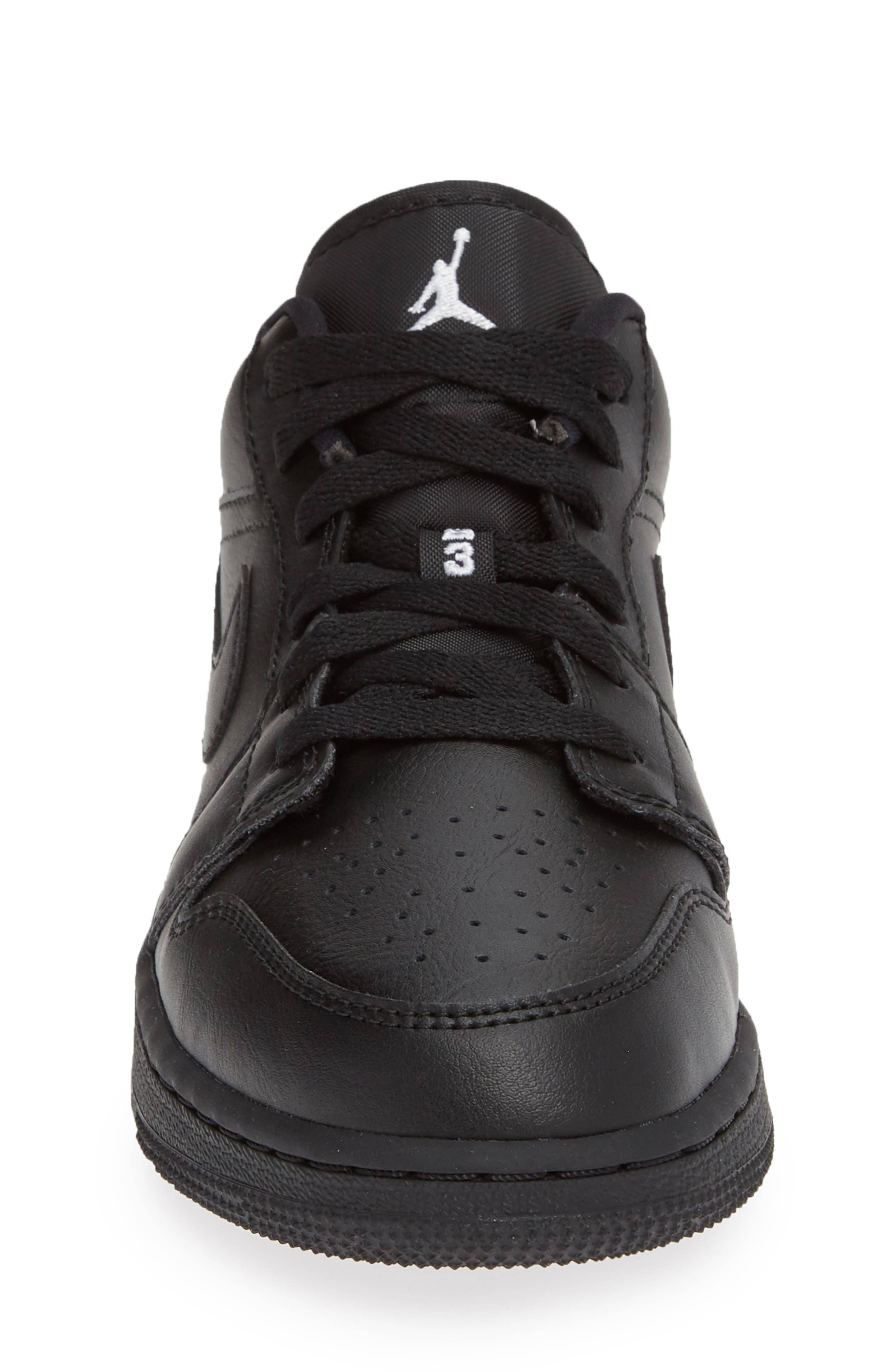JORDAN, Nike 'Air Jordan 1 Low' Sneaker, Alternate thumbnail 4, color, BLACK/ WHITE/ BLACK