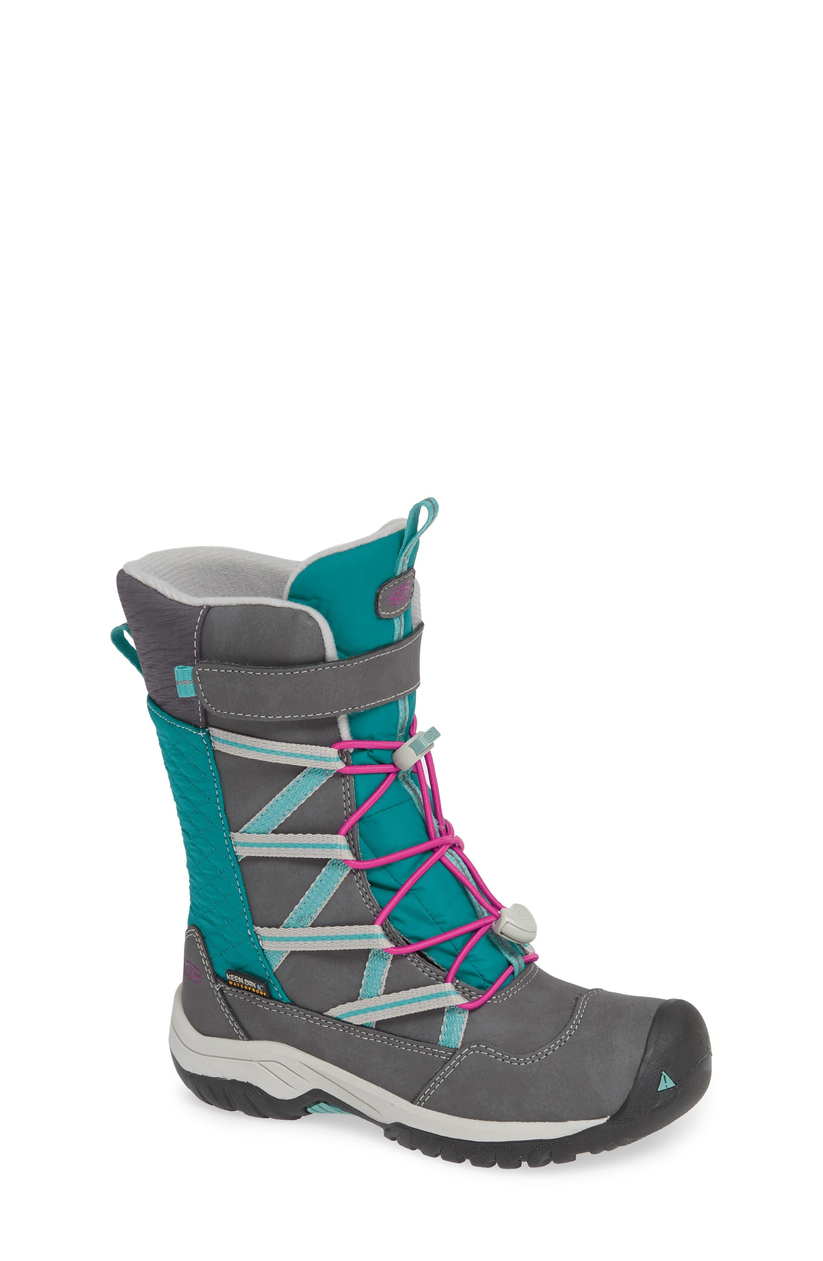 KEEN, Hoodoo Waterproof Insulated Boot, Main thumbnail 1, color, STEEL GREY/ CABARET