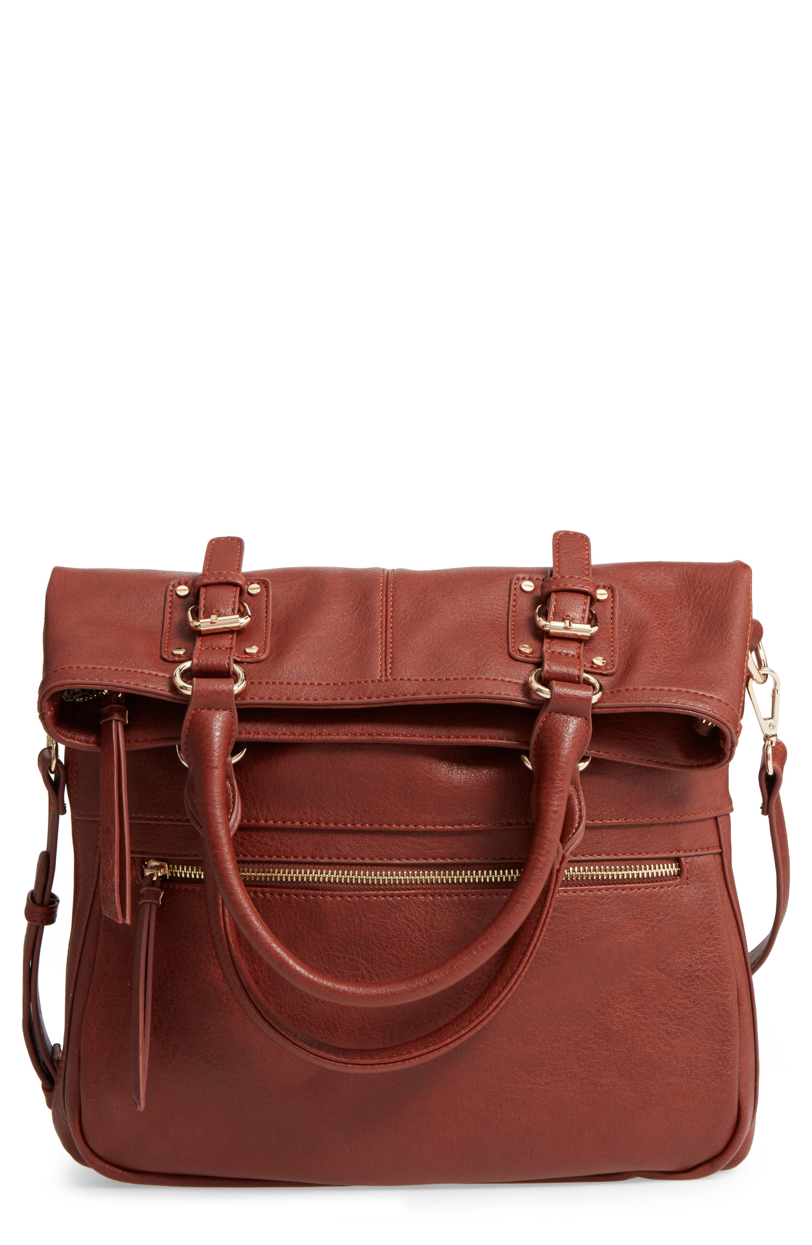 SOLE SOCIETY Charlie Foldover Tote, Main, color, 201
