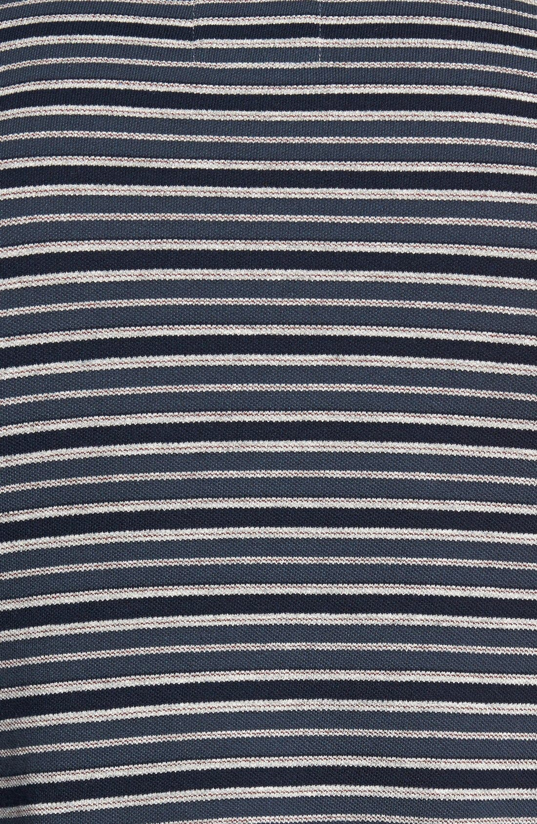 BILLY REID, 'Pensacola' Stripe Piqué Polo, Alternate thumbnail 2, color, 410