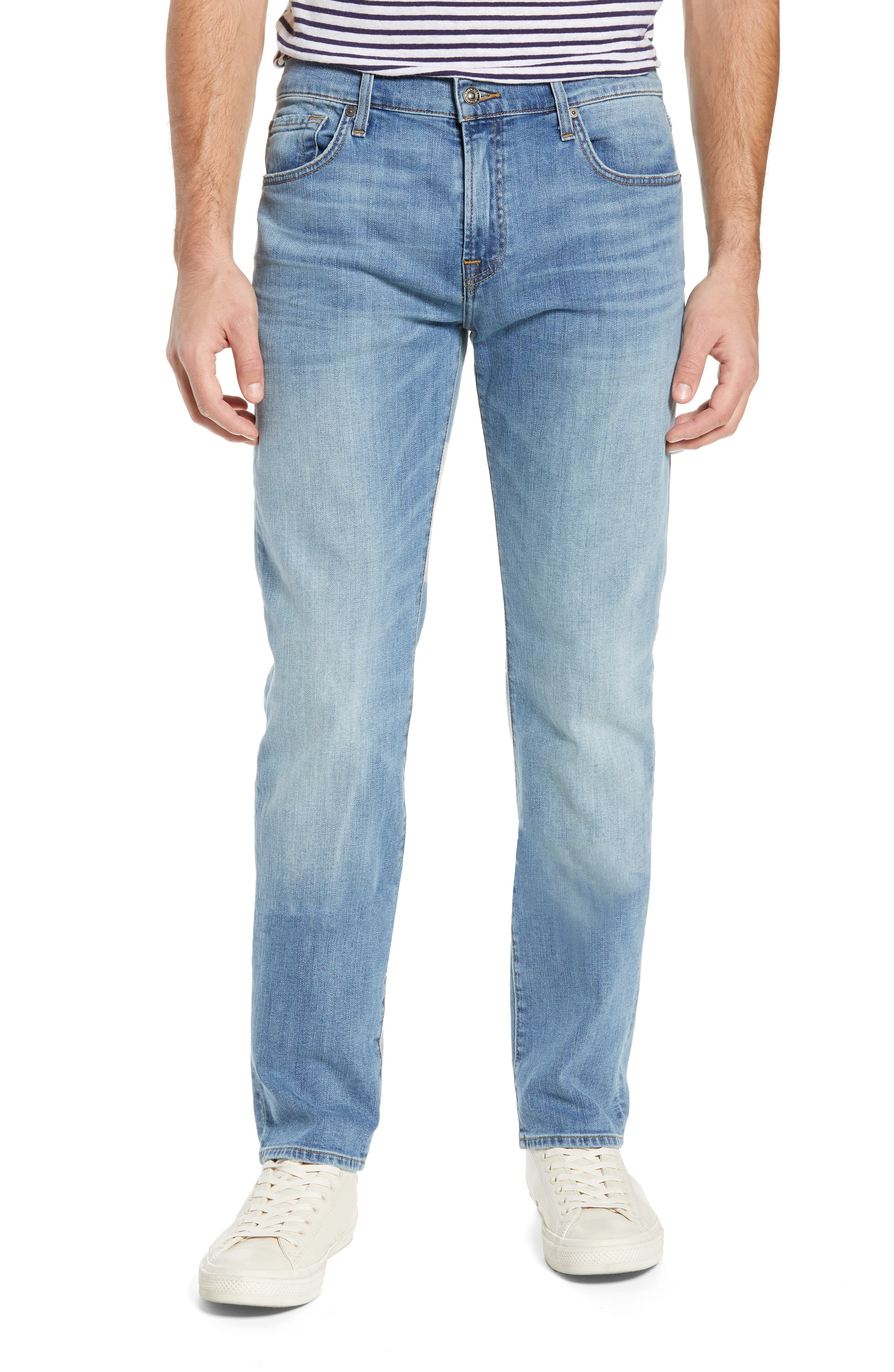 7 FOR ALL MANKIND<SUP>®</SUP>, Adrien Luxe Performance Slim Fit Jeans, Main thumbnail 1, color, ZEITGEIST