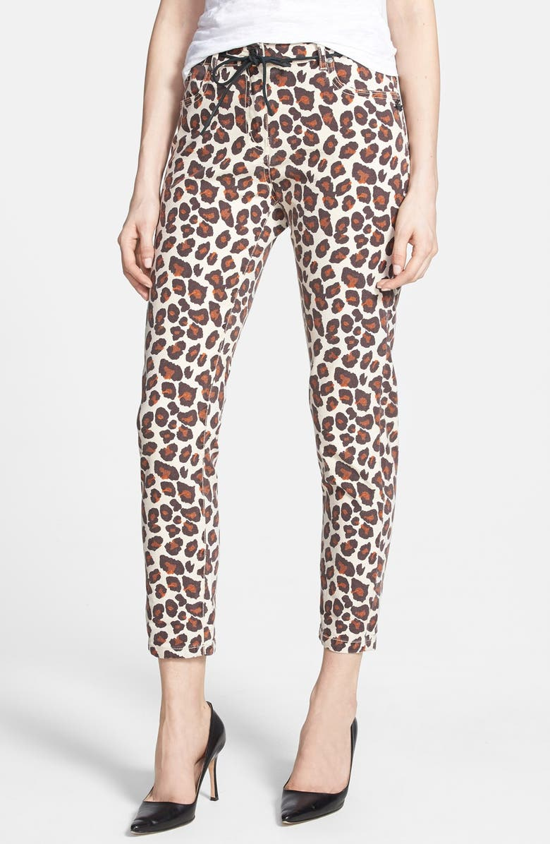 fc62537cda24 MAISON SCOTCH Leopard Print Ankle Slim Pants, Main, color, 200