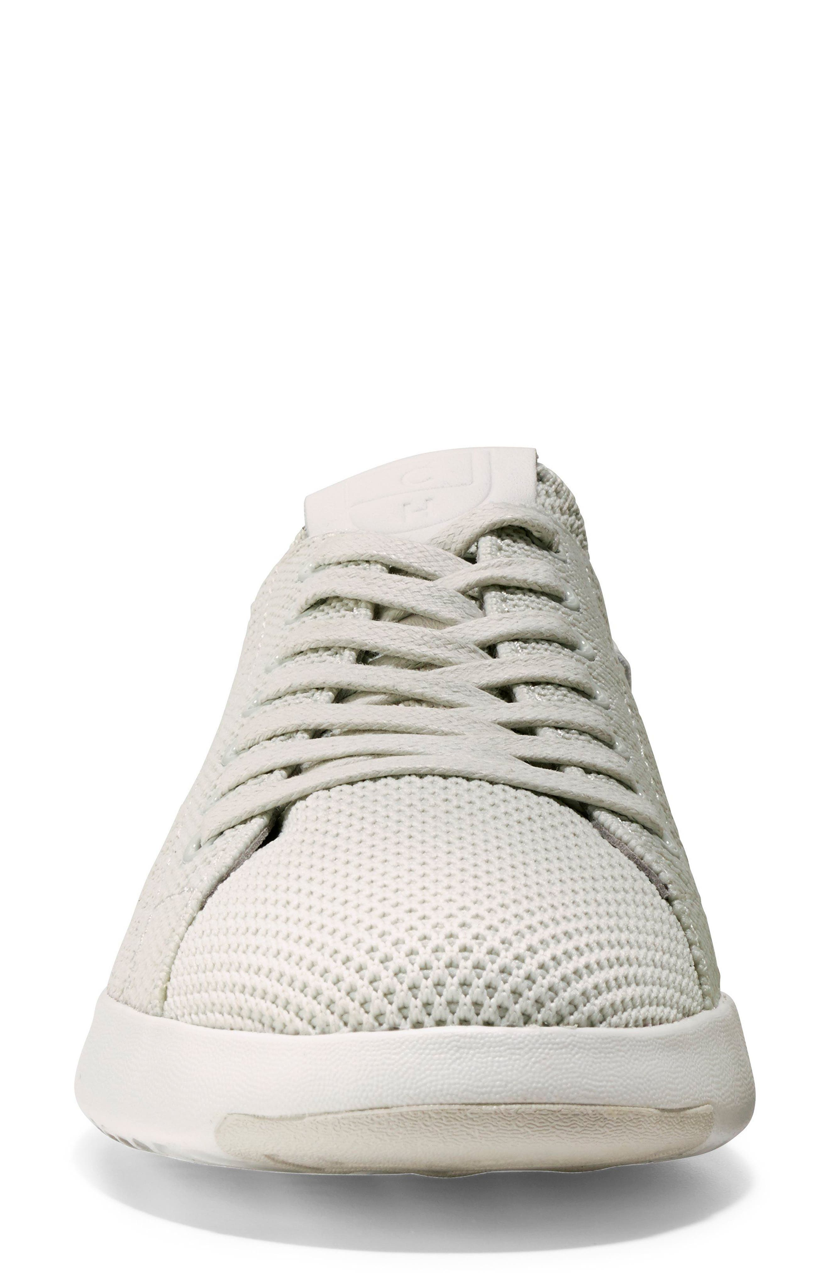 COLE HAAN, GrandPro Stitchlite Sneaker, Alternate thumbnail 4, color, CHALK FABRIC
