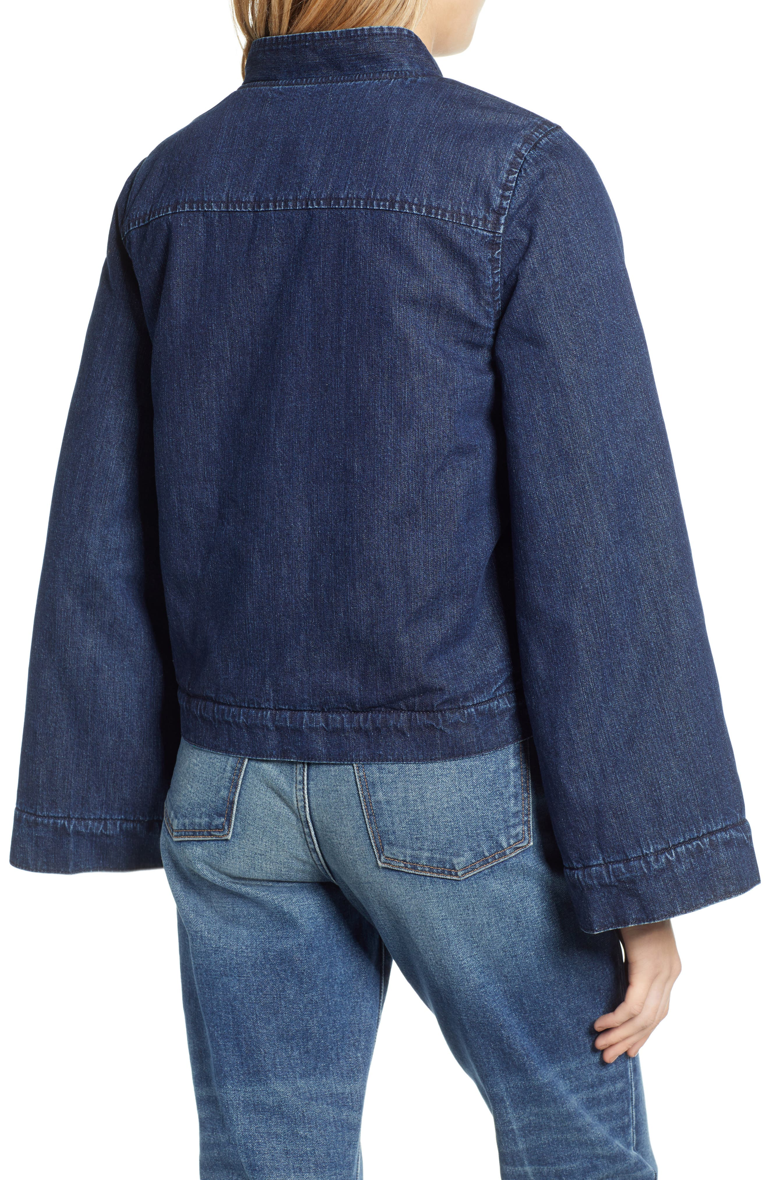 MADEWELL, Reversible Fleece Jean Jacket, Alternate thumbnail 2, color, 400