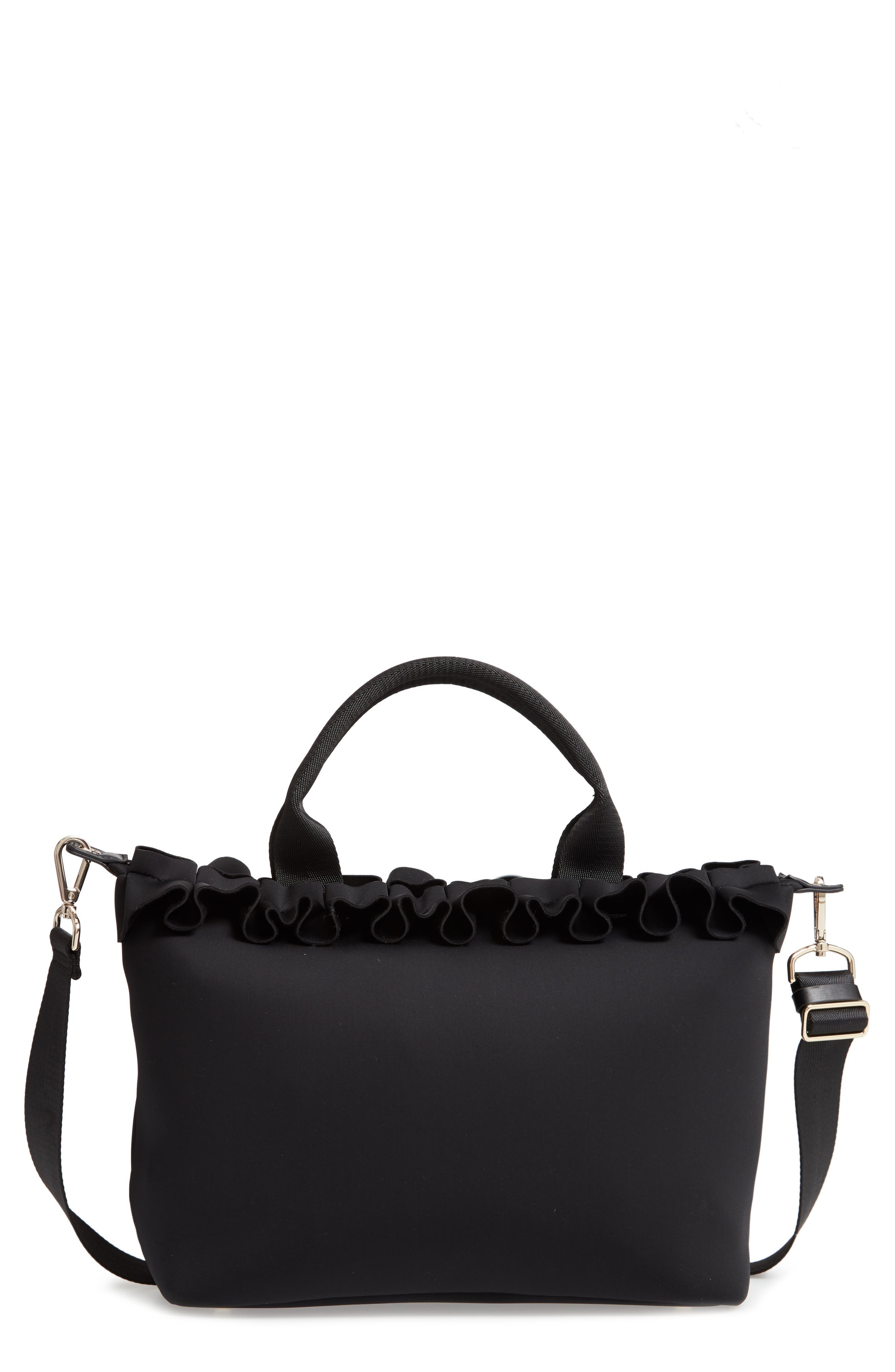 TED BAKER LONDON, Ryllee Ruffle Tote, Main thumbnail 1, color, 001