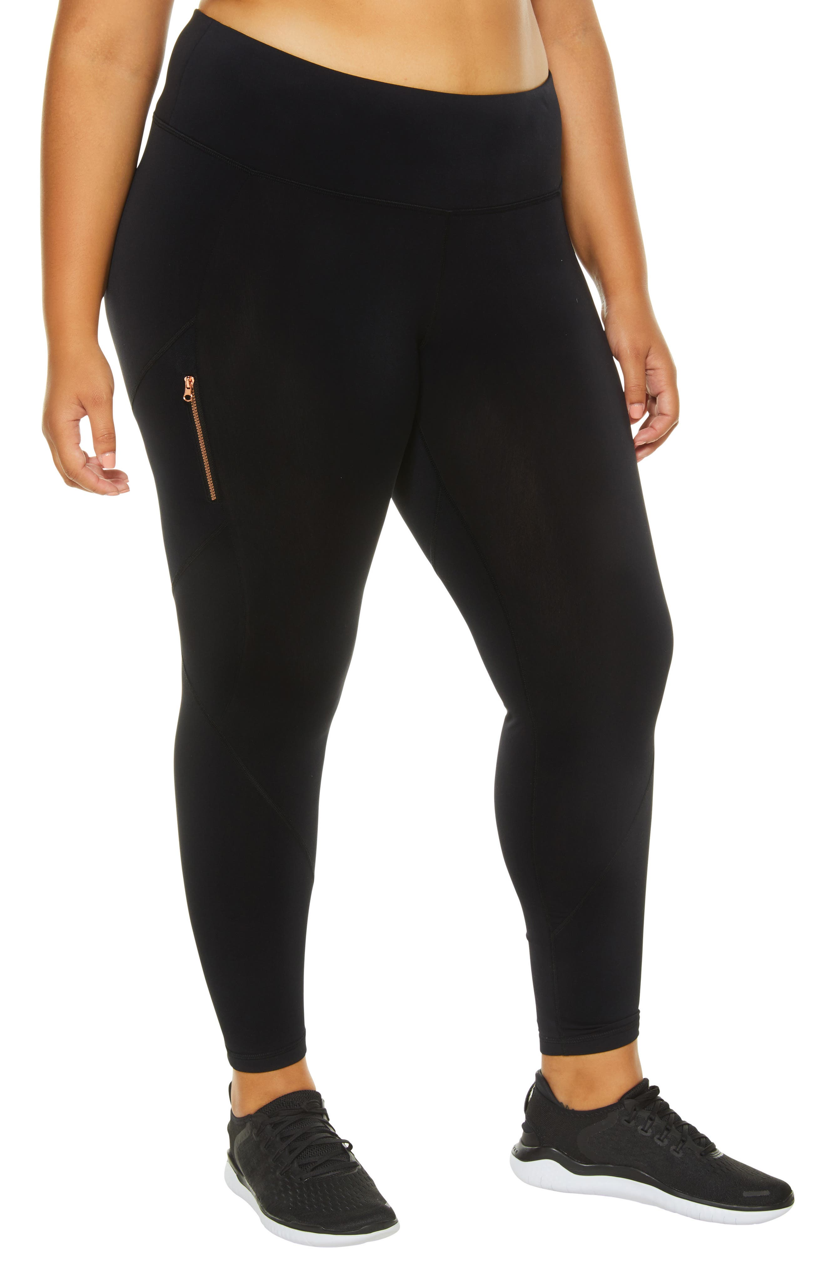 SHAPE ACTIVEWEAR Blaze Fleece Leggings, Main, color, 001
