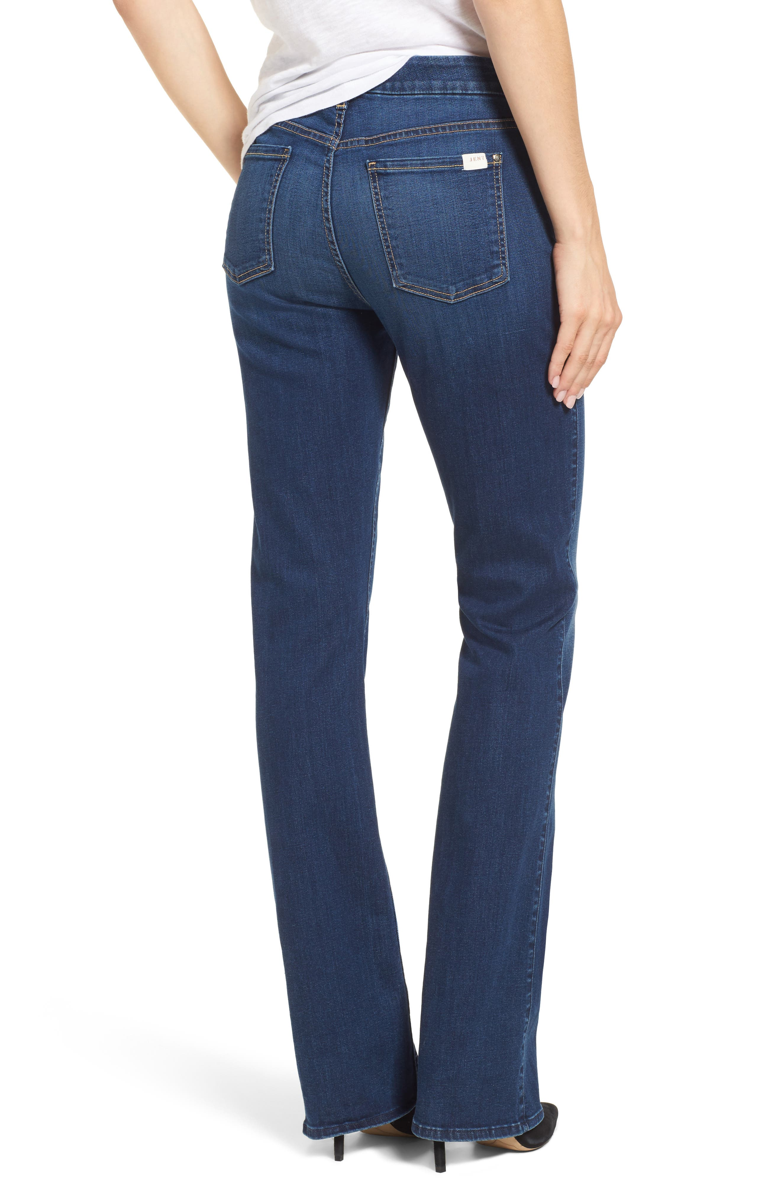 JEN7 BY 7 FOR ALL MANKIND, Slim Bootcut Jeans, Alternate thumbnail 2, color, RICHE TOUCH MEDIUM BLUE