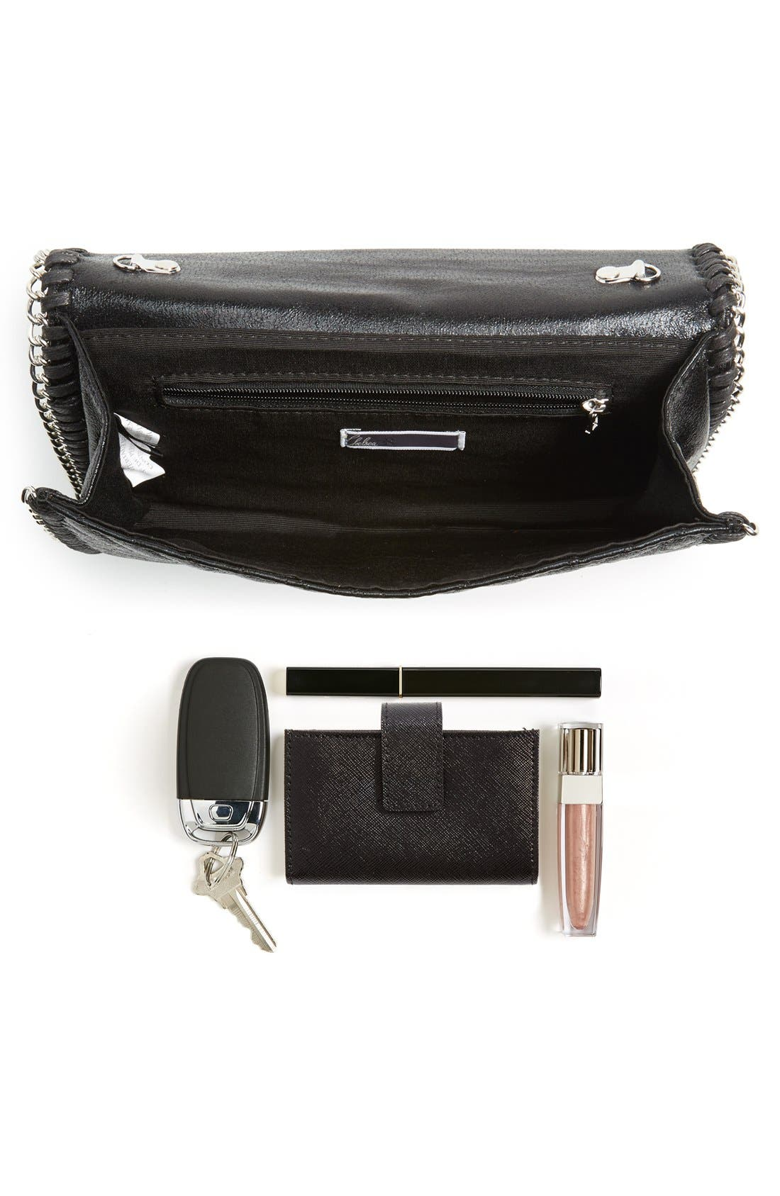 CHELSEA28, Quilted Mini Clutch, Alternate thumbnail 5, color, 001