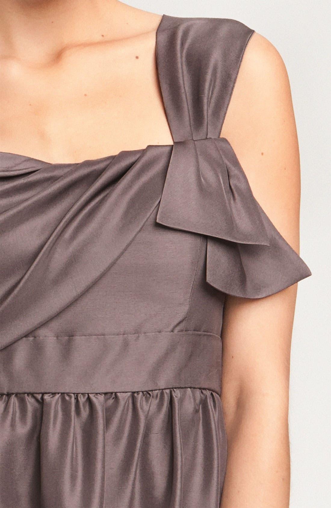 JENNY YOO, Convertible Shantung Dress, Alternate thumbnail 2, color, 020