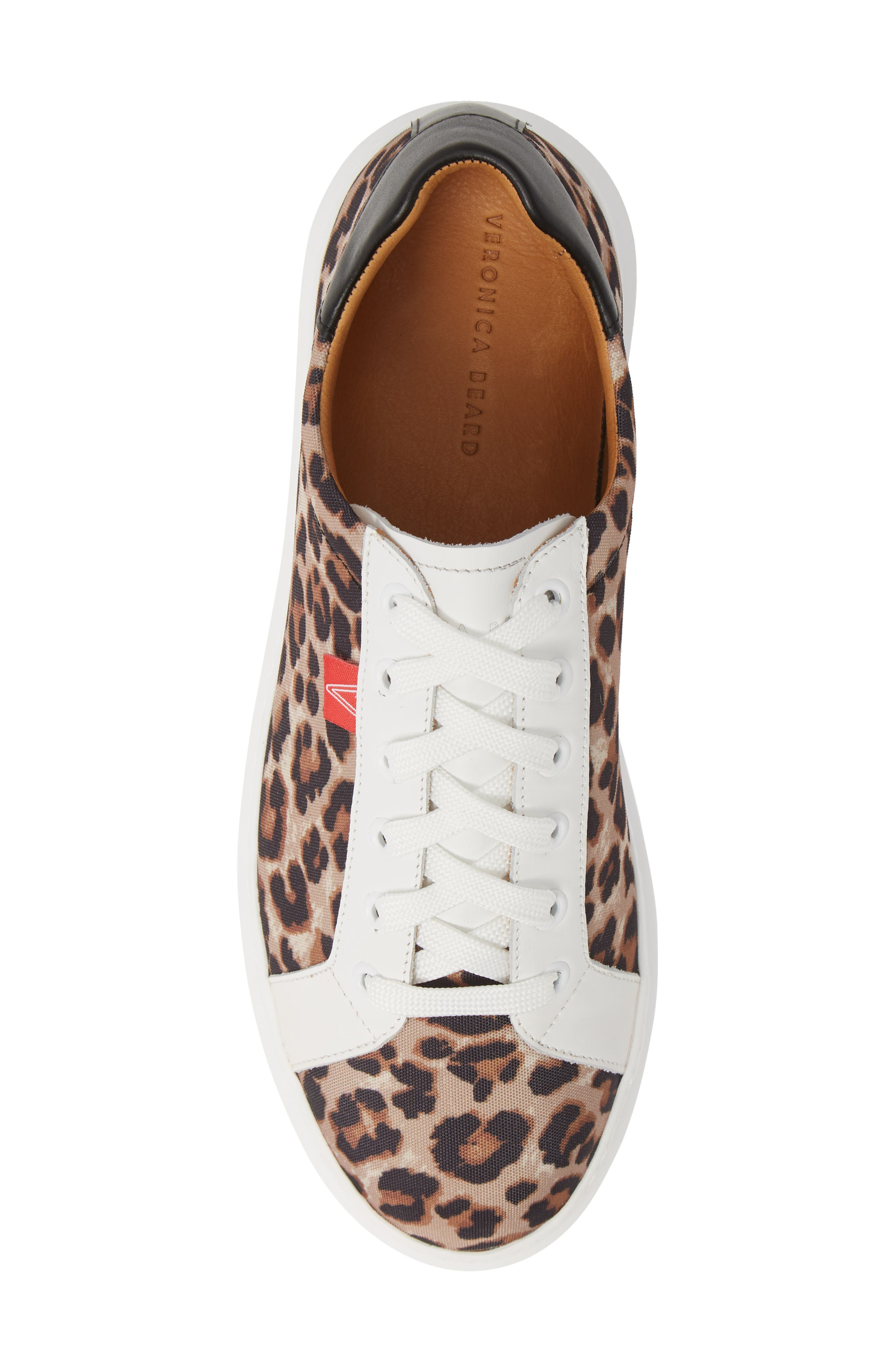 VERONICA BEARD, Daelyn Leopard Print Sneaker, Alternate thumbnail 5, color, LEOPARD