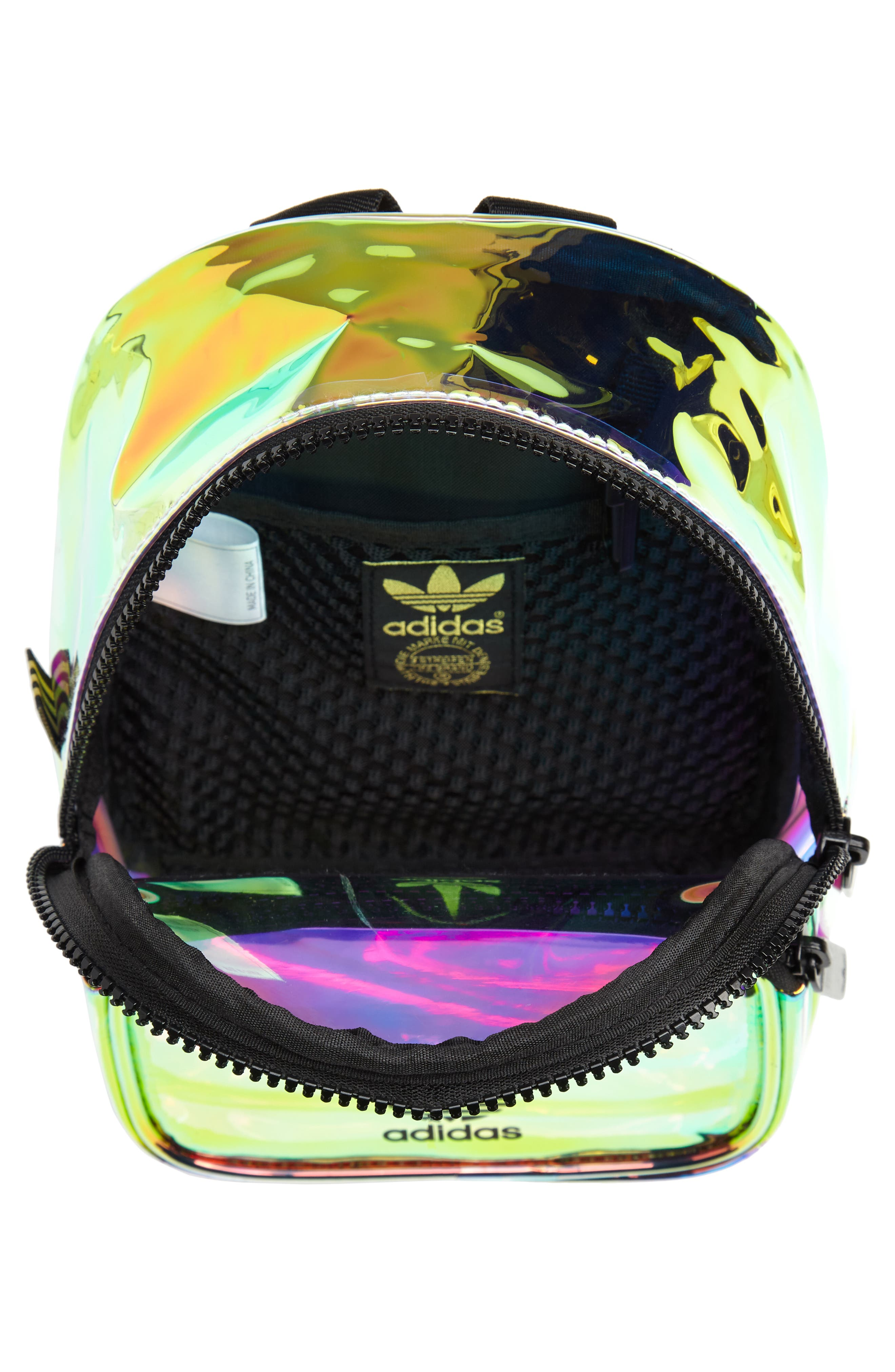 ADIDAS, Ori Mini Holographic Clear Backpack, Alternate thumbnail 5, color, 710
