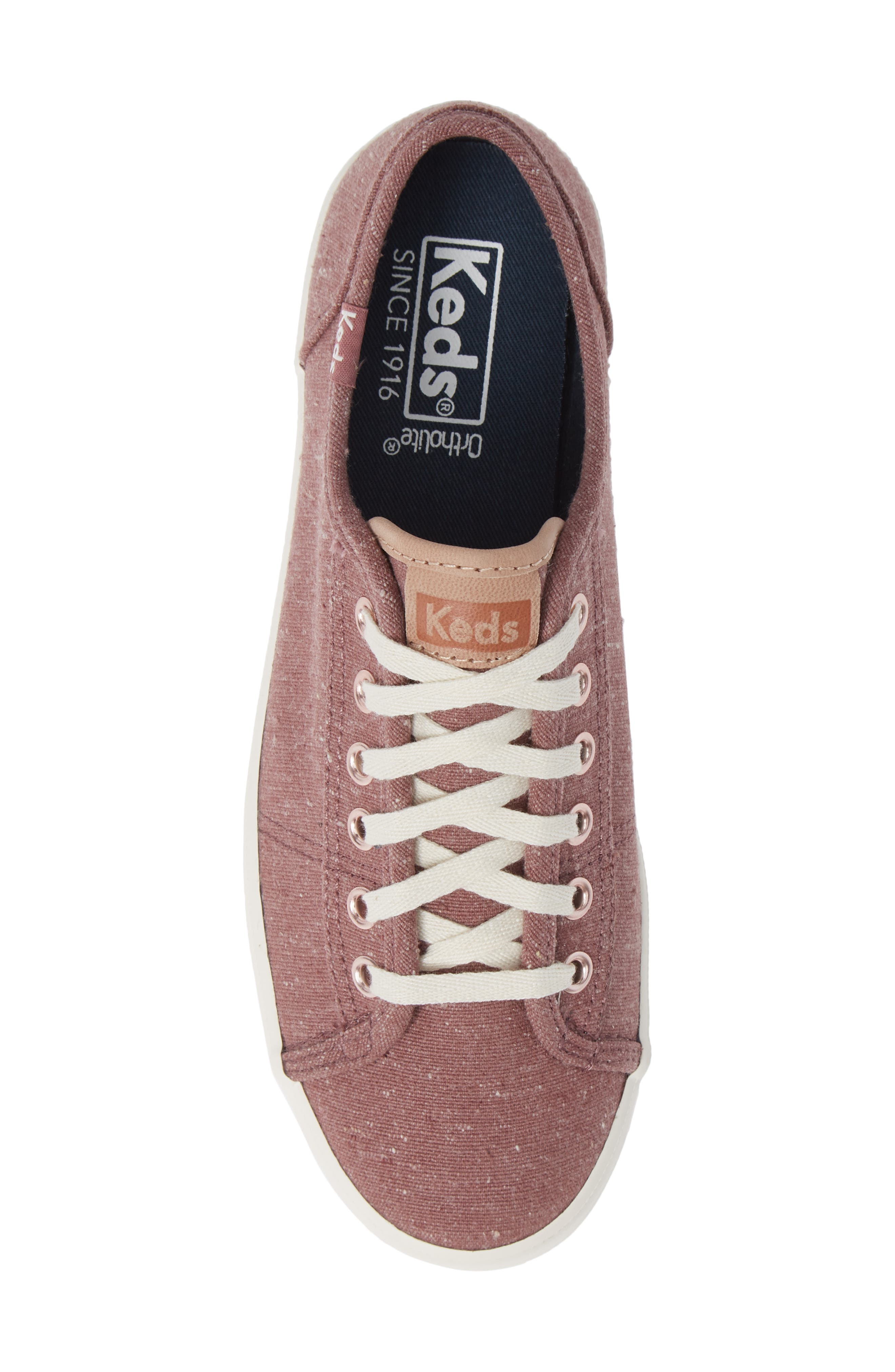 KEDS<SUP>®</SUP>, Kickstart Sneaker, Alternate thumbnail 5, color, MAUVE