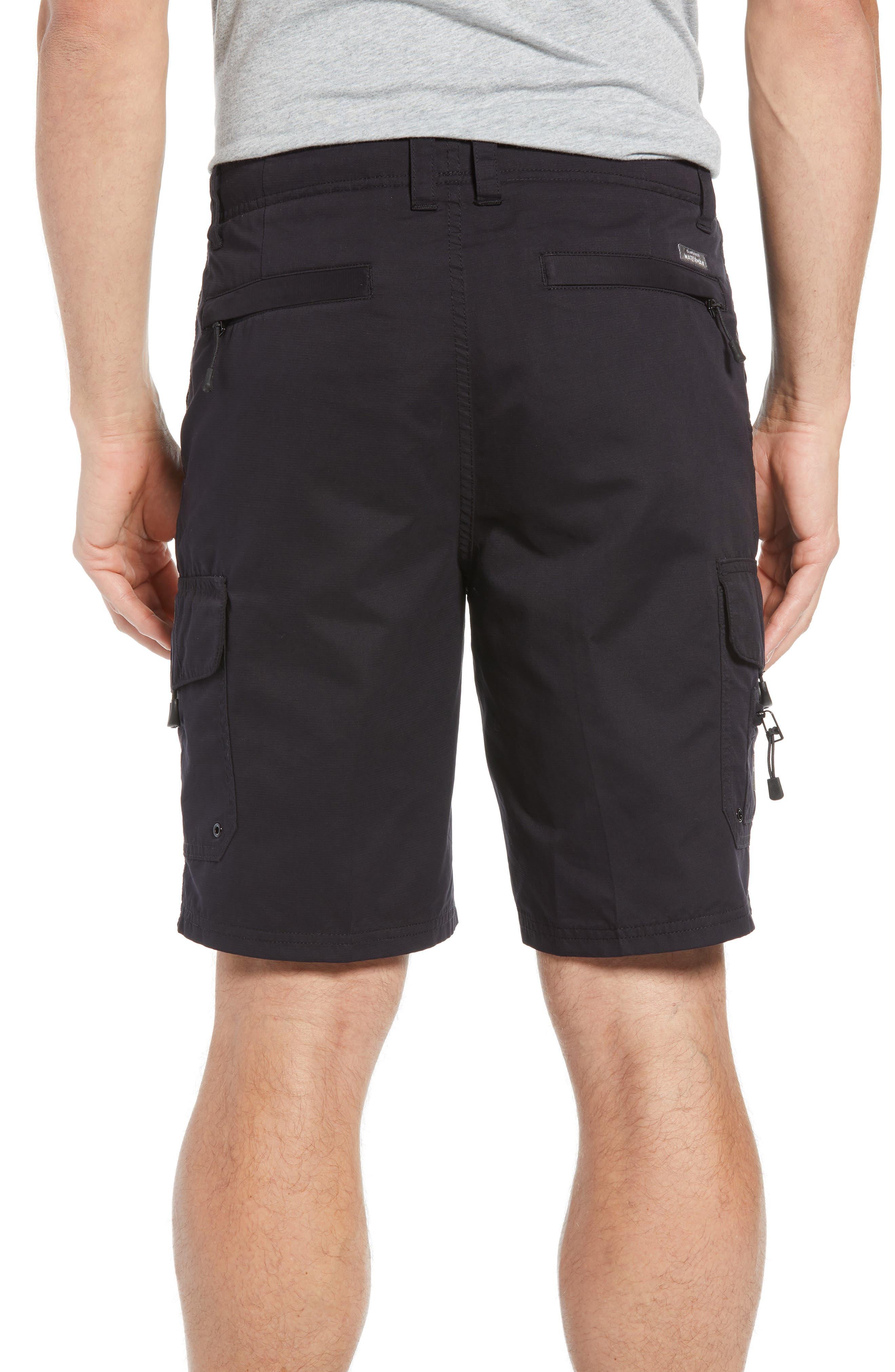 QUIKSILVER WATERMAN COLLECTION, Maldive Regular Fit Cargo Shorts, Alternate thumbnail 2, color, 001