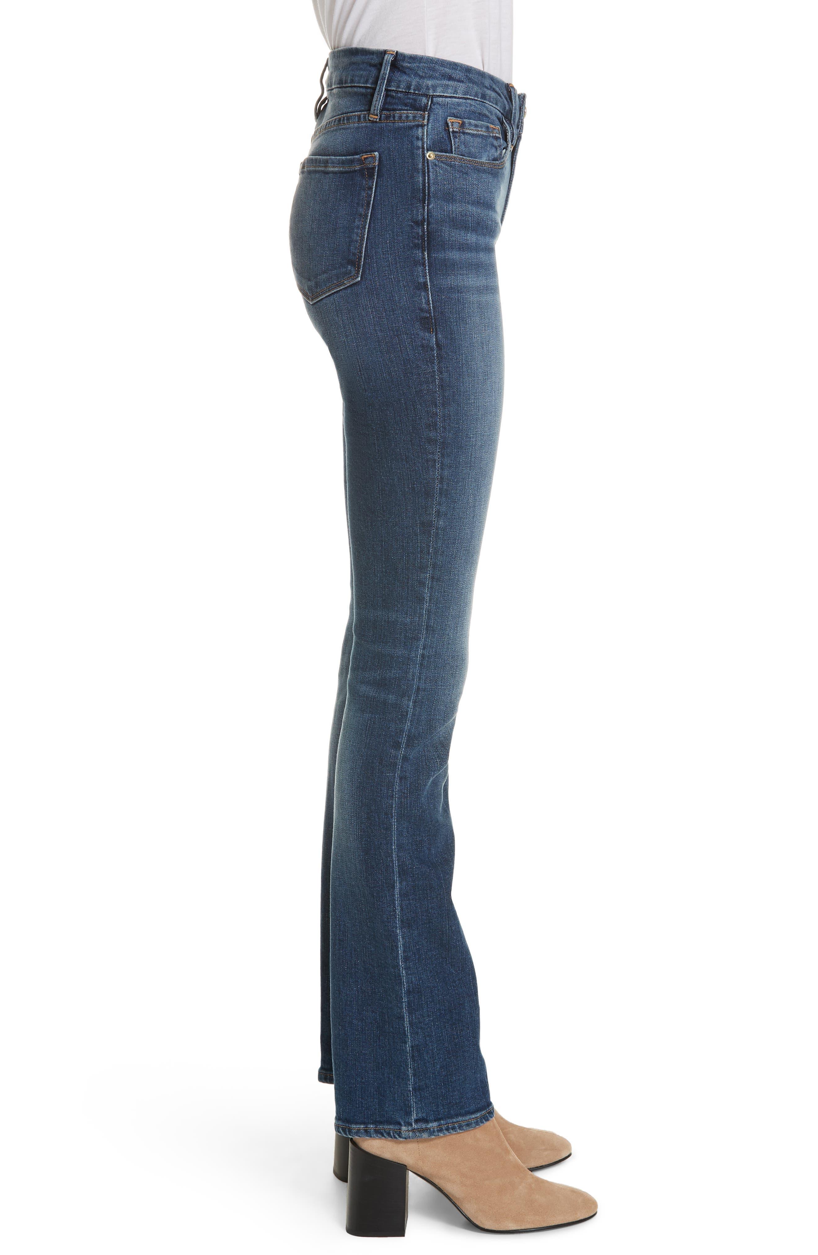 FRAME, Le Mini Boot Jeans, Alternate thumbnail 4, color, BLENDON
