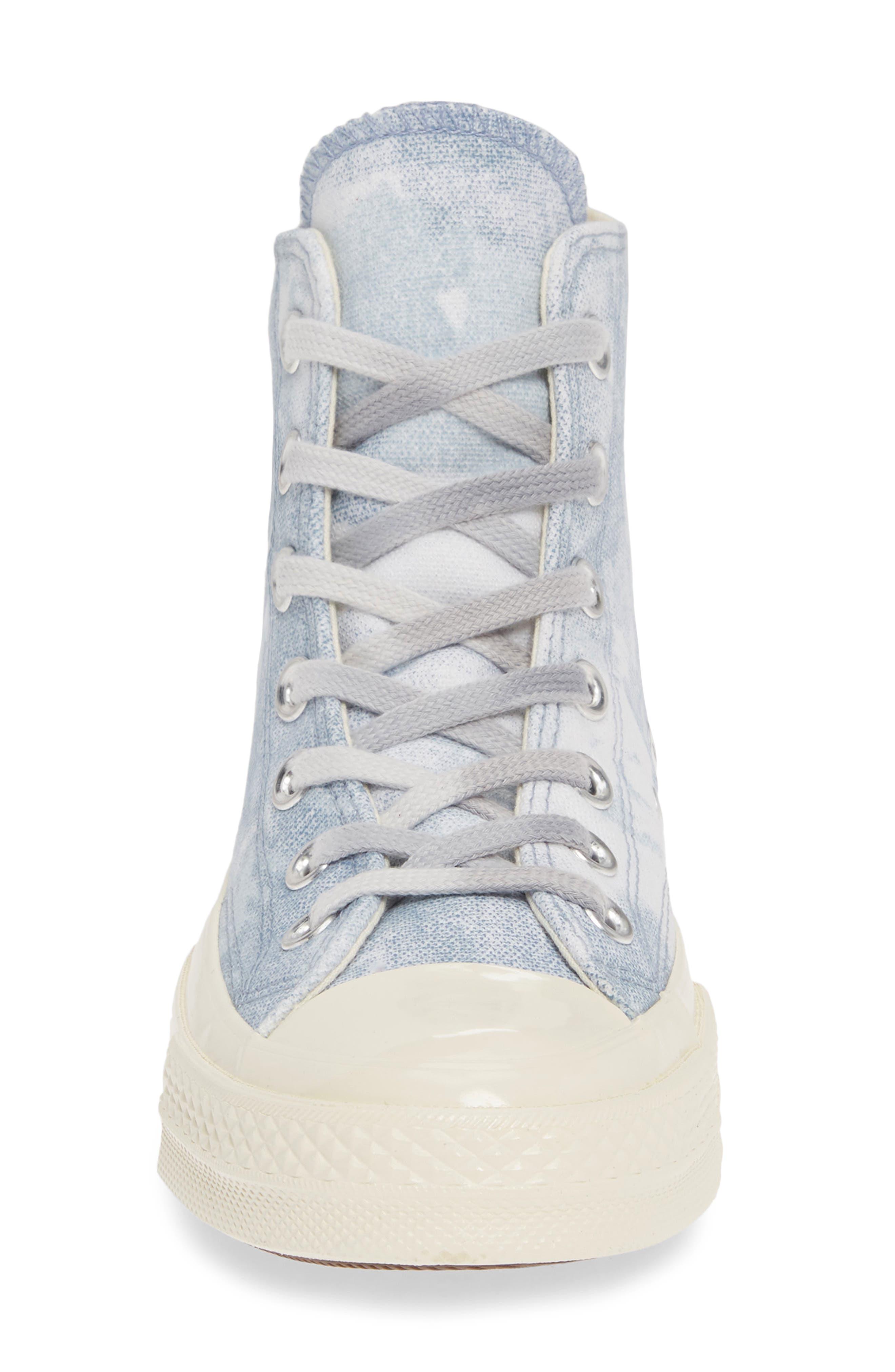 CONVERSE, Chuck Taylor<sup>®</sup> All Star<sup>®</sup> 70 High Top Sneaker, Alternate thumbnail 4, color, INDIGO FOG/ PLATINUM/ EGRET