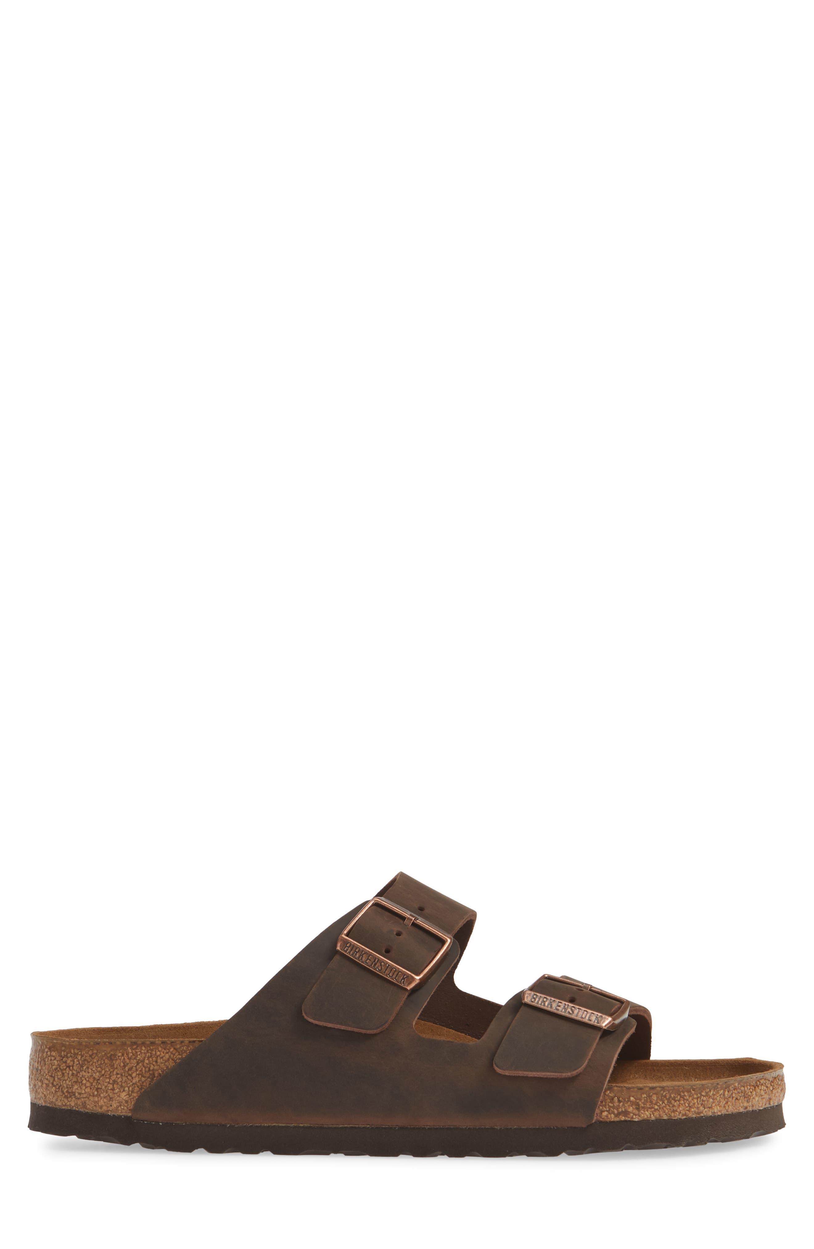 BIRKENSTOCK, Arizona Soft Slide Sandal, Alternate thumbnail 4, color, HABANA