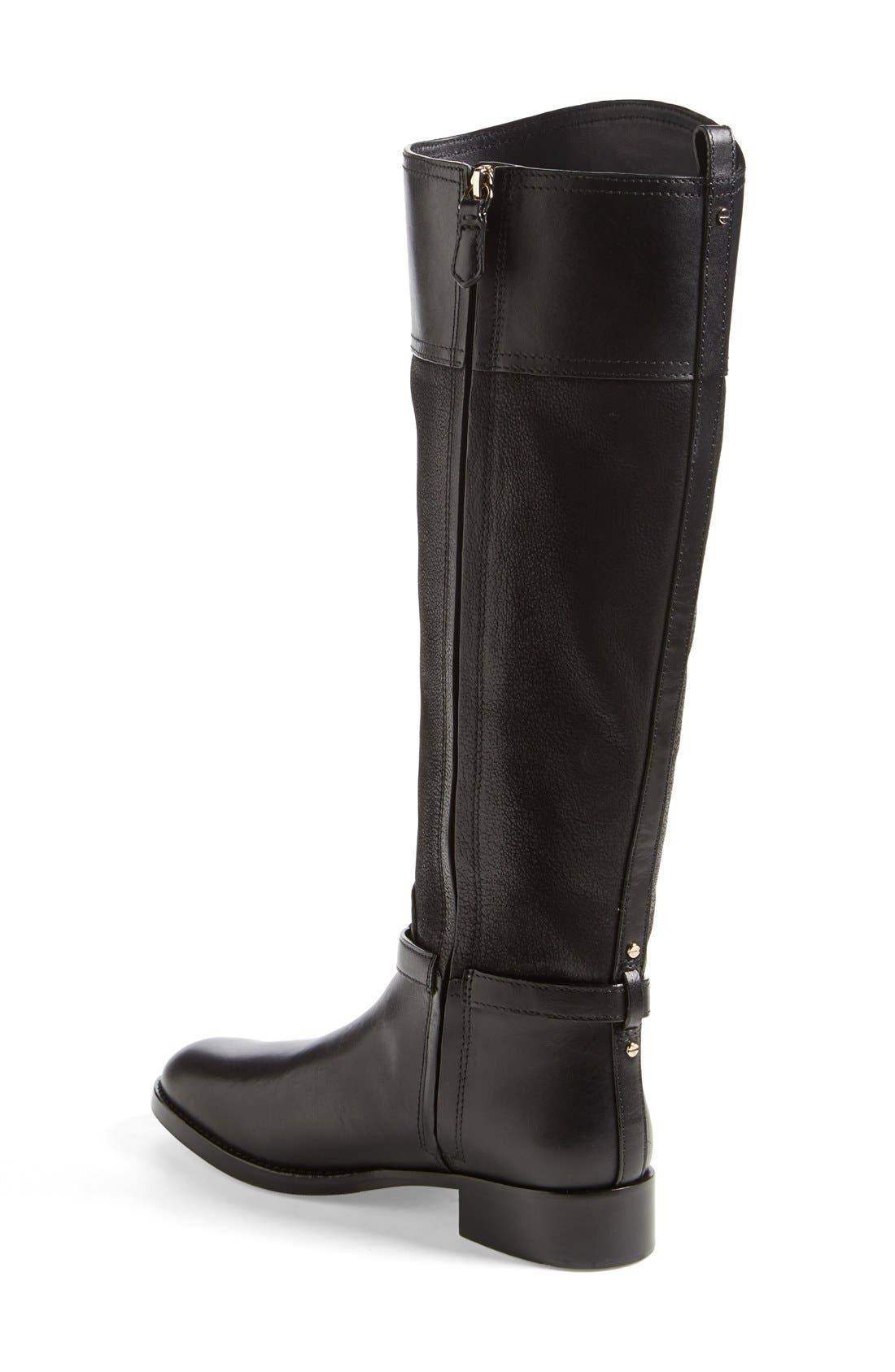 TORY BURCH, 'Simone' Riding Boot, Alternate thumbnail 3, color, 009