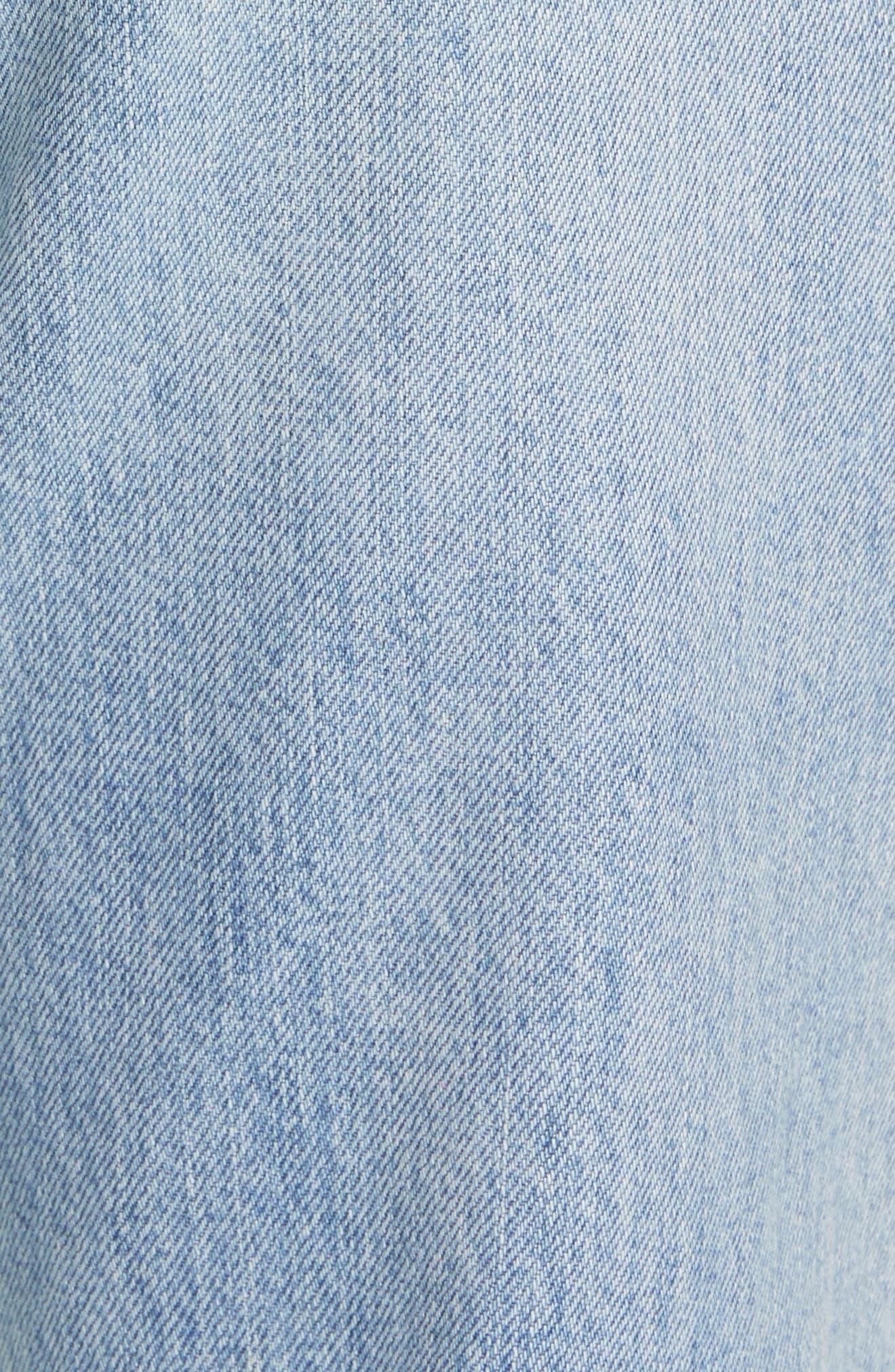 LA VIE REBECCA TAYLOR, Sylvie High Waist Jeans, Alternate thumbnail 6, color, CHANTAL WASH