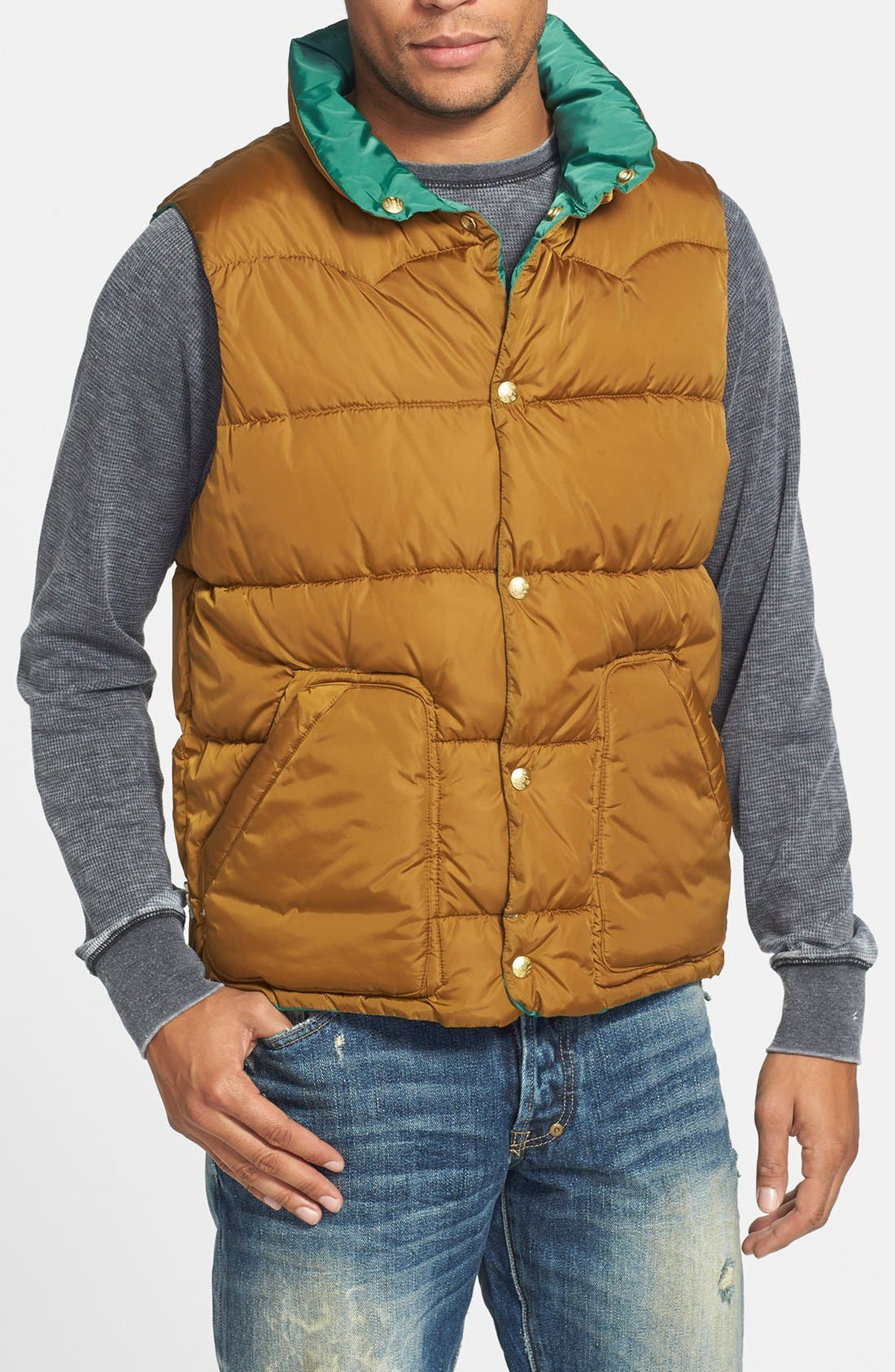 SCOTCH & SODA, Reversible Quilted Vest, Alternate thumbnail 5, color, 310
