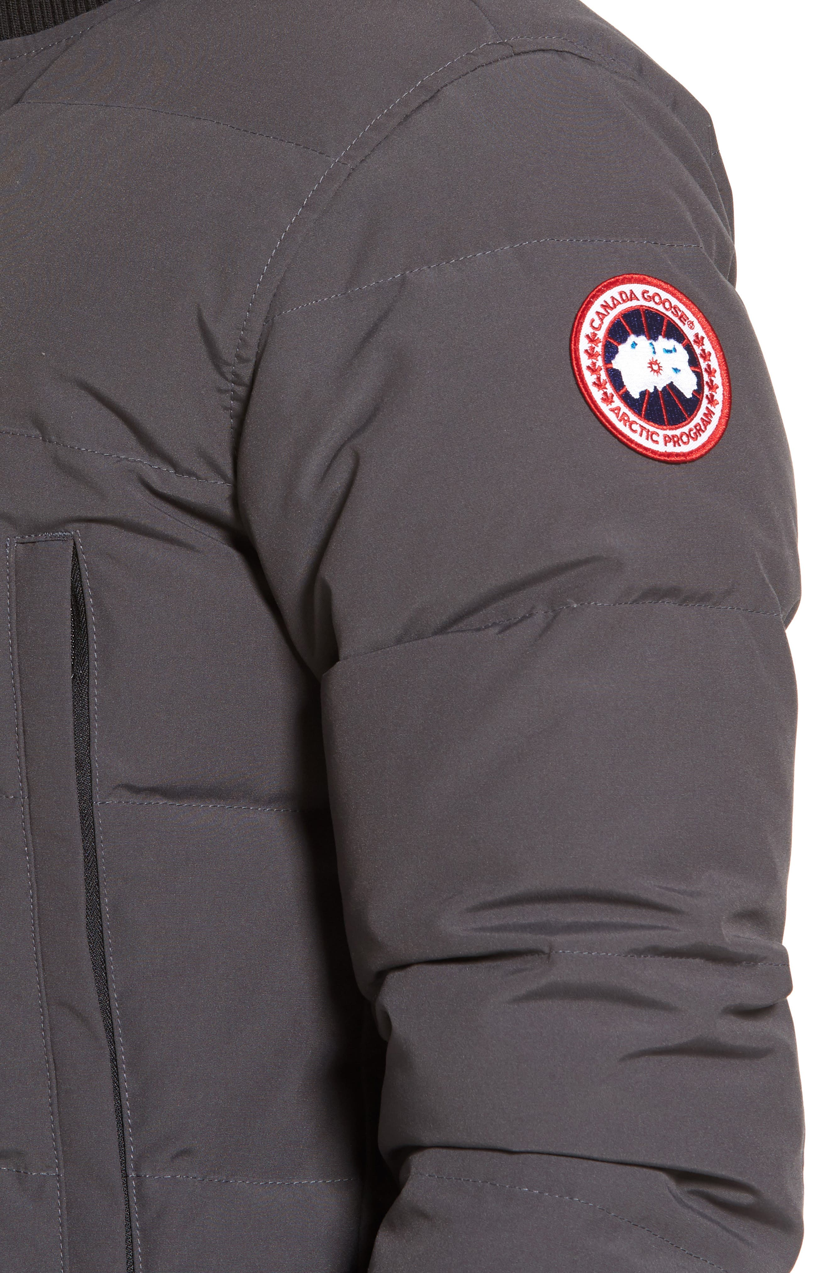 CANADA GOOSE, 'Woolford' Slim Fit Down Bomber Jacket, Alternate thumbnail 5, color, GRAPHITE