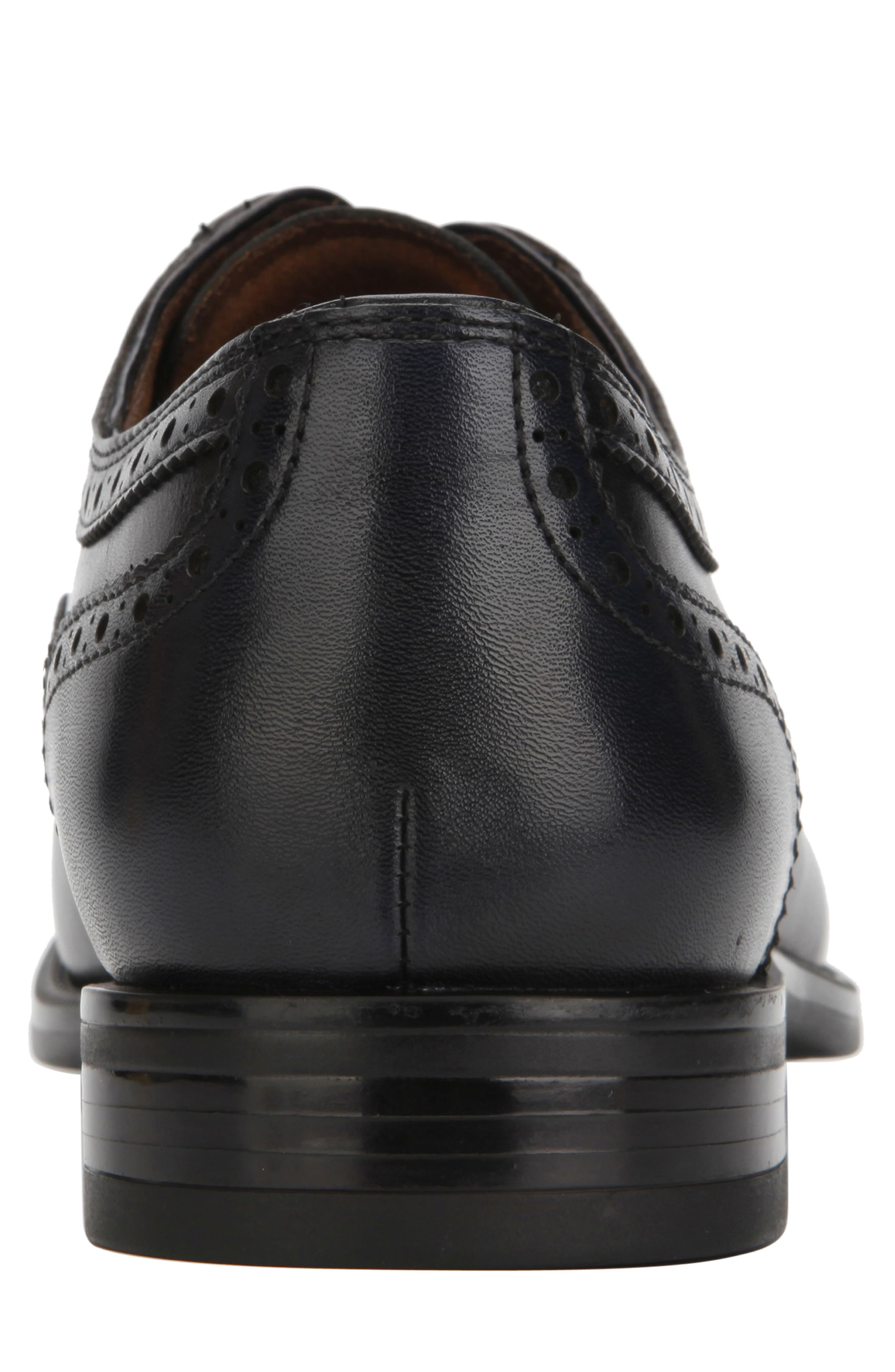 KENNETH COLE NEW YORK, Futurepod Cap Toe Oxford, Alternate thumbnail 5, color, NAVY TUMBLED LEATHER