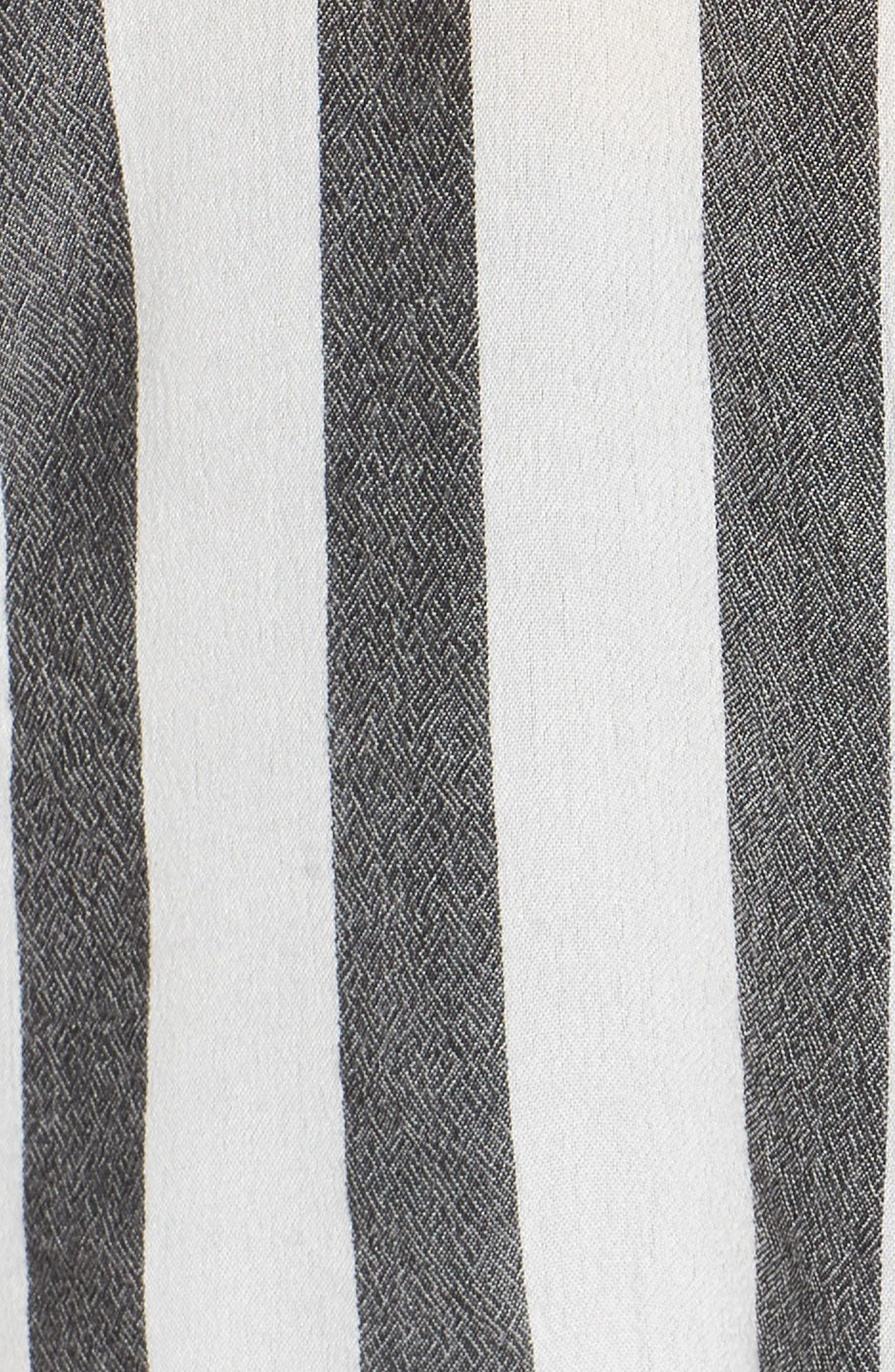 BP., Perfect Stripe Shirt, Alternate thumbnail 5, color, 001