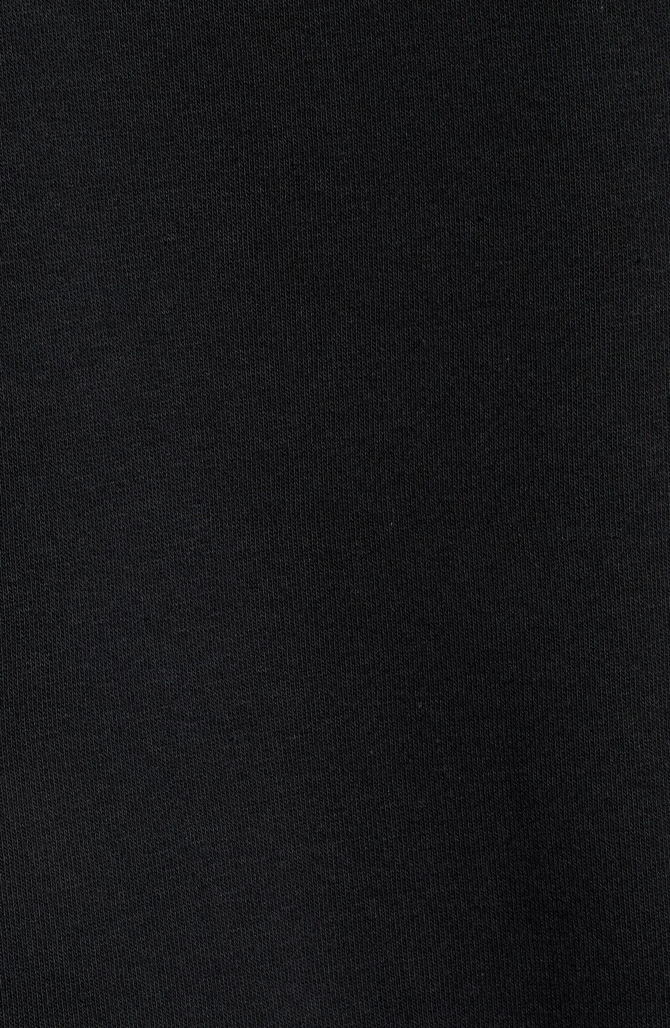 NIKE, Sportswear Heritage Zip Hoodie, Alternate thumbnail 5, color, BLACK/ SAIL