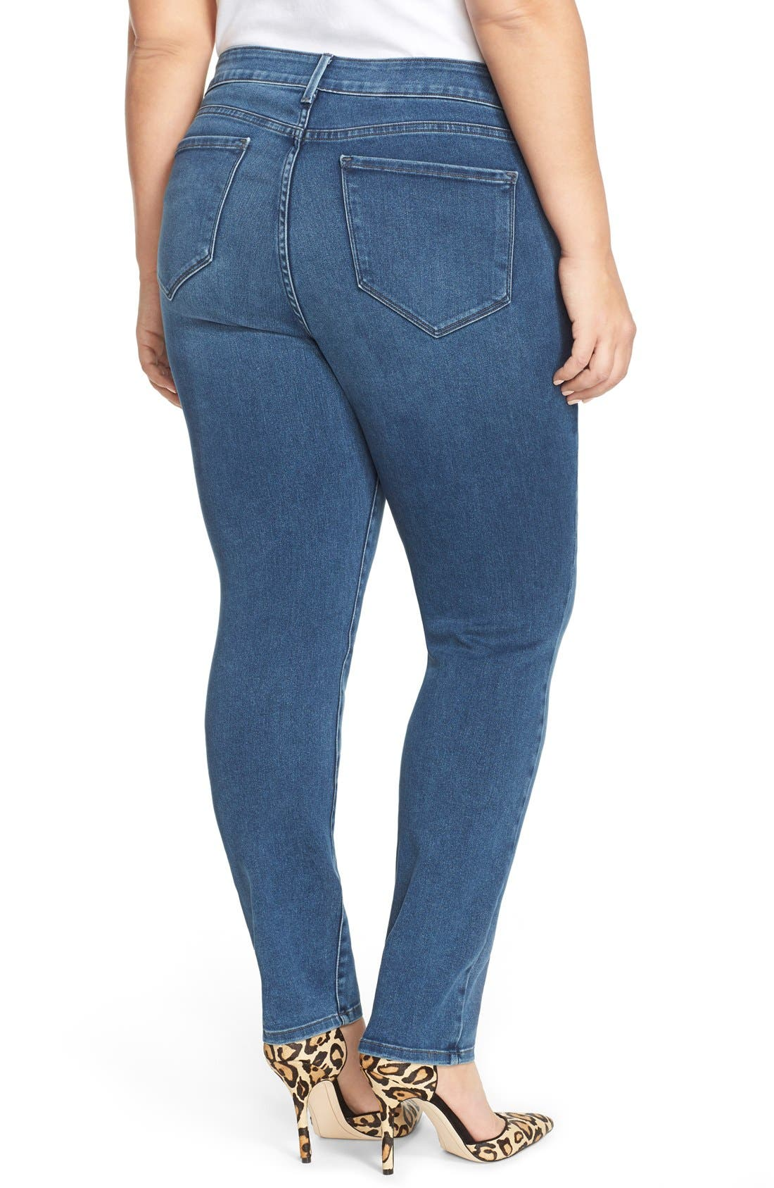 NYDJ, 'Alina' Stretch Skinny Jeans, Alternate thumbnail 2, color, 461