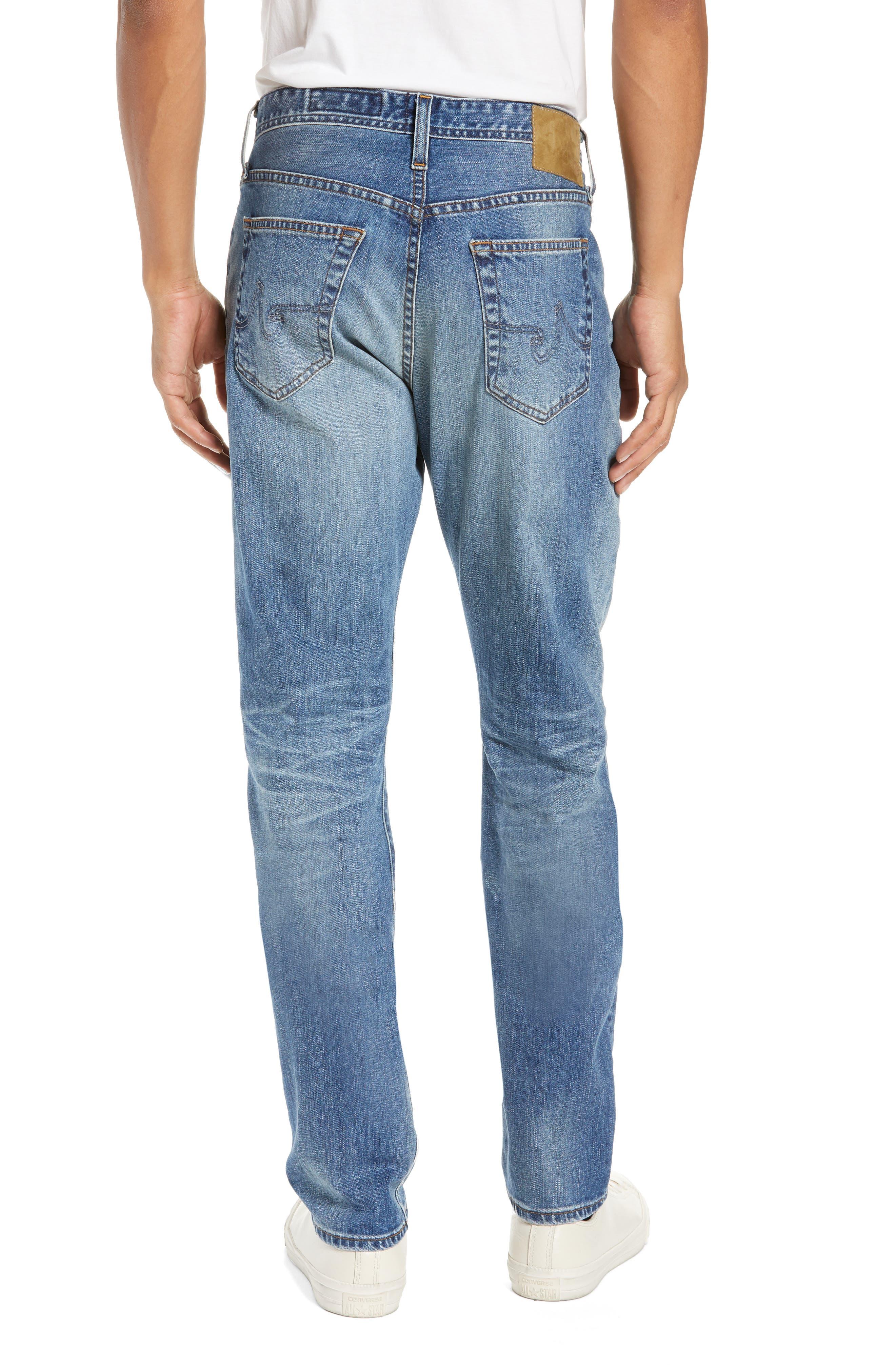 AG, Everett Slim Straight Leg Jeans, Alternate thumbnail 2, color, 21 YEARS SEIZE