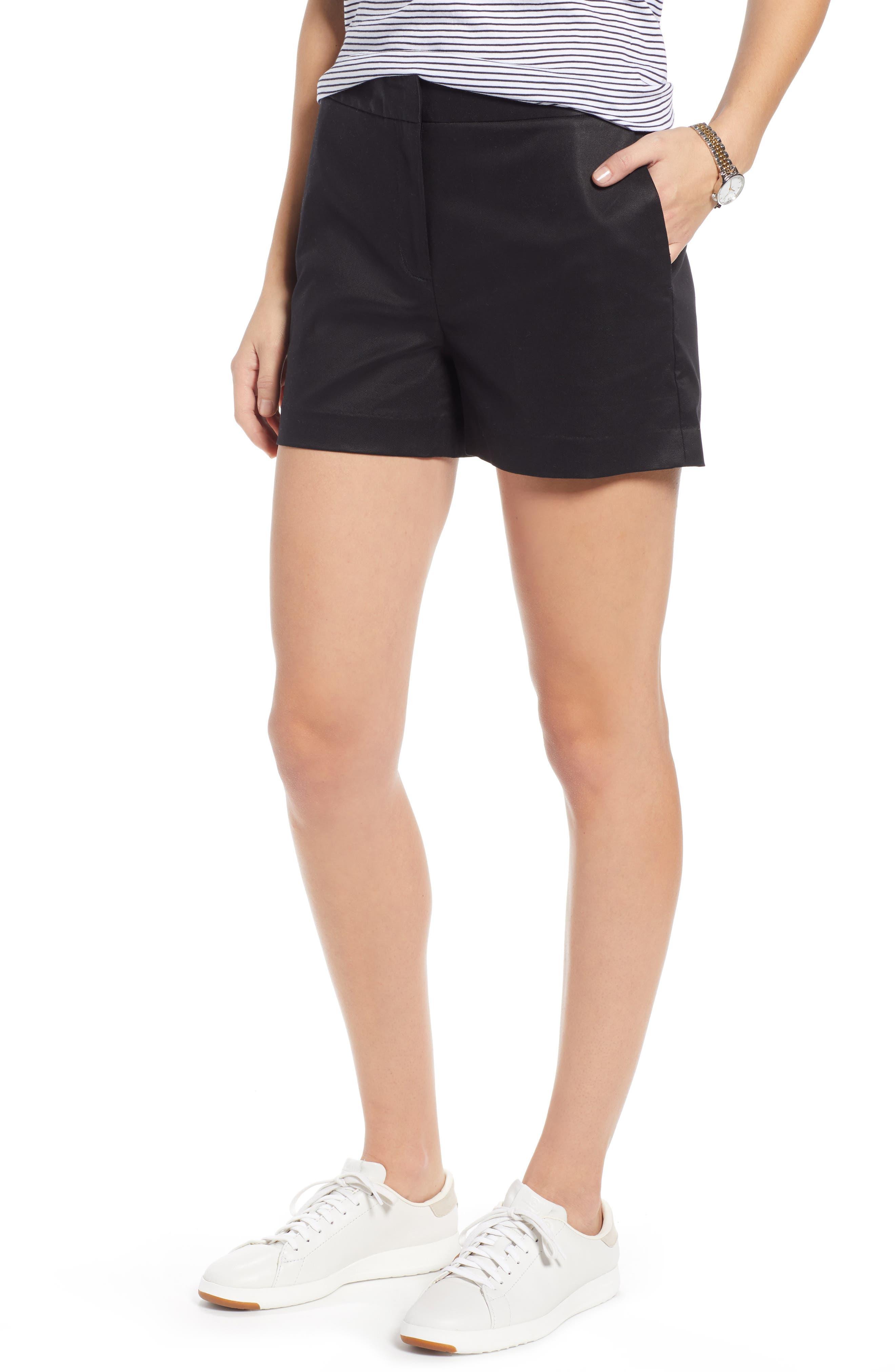 1901 Simple Shorts, Main, color, BLACK