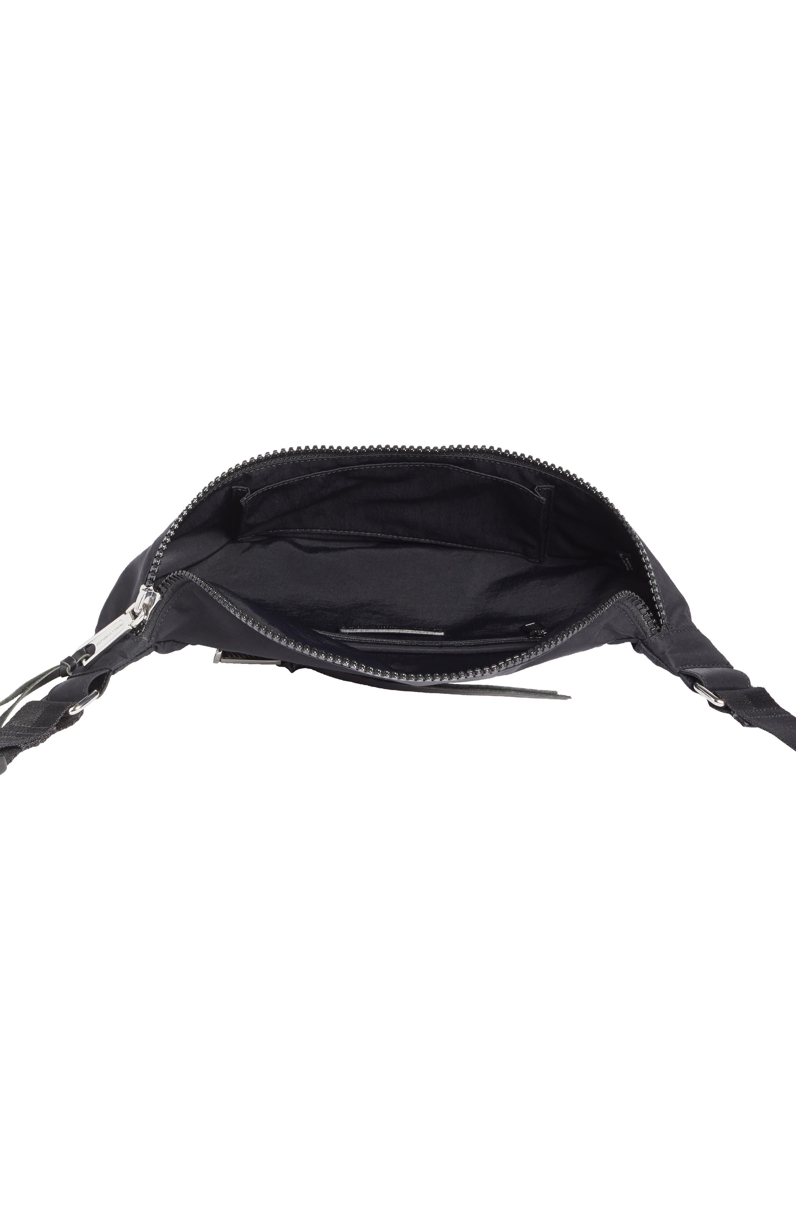 REBECCA MINKOFF, Nylon Belt Bag, Alternate thumbnail 5, color, BLACK