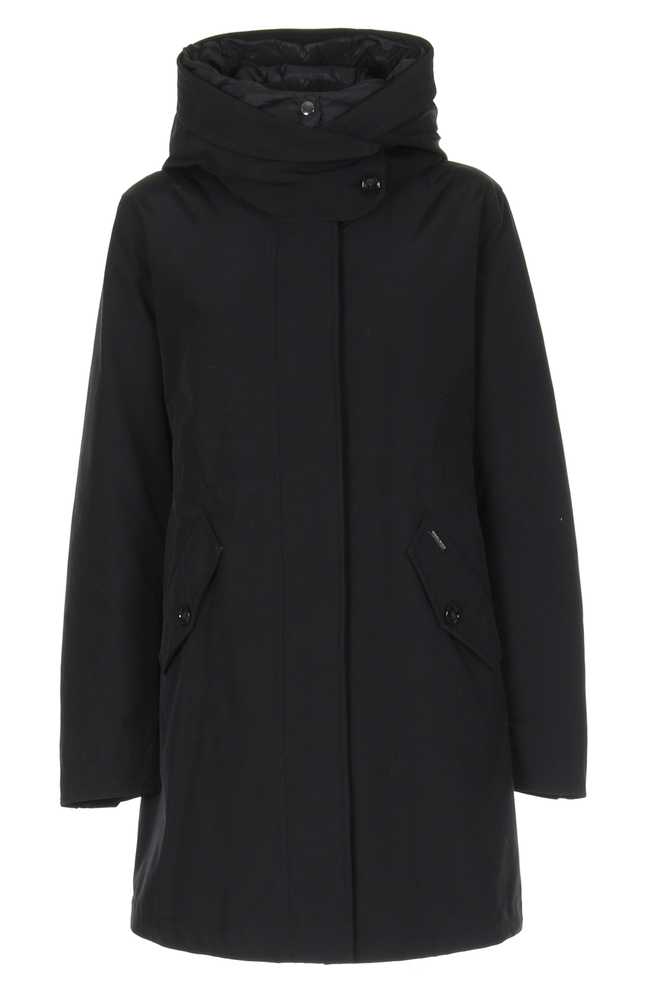WOOLRICH, Long Military 3-in-1 Parka, Alternate thumbnail 11, color, 001