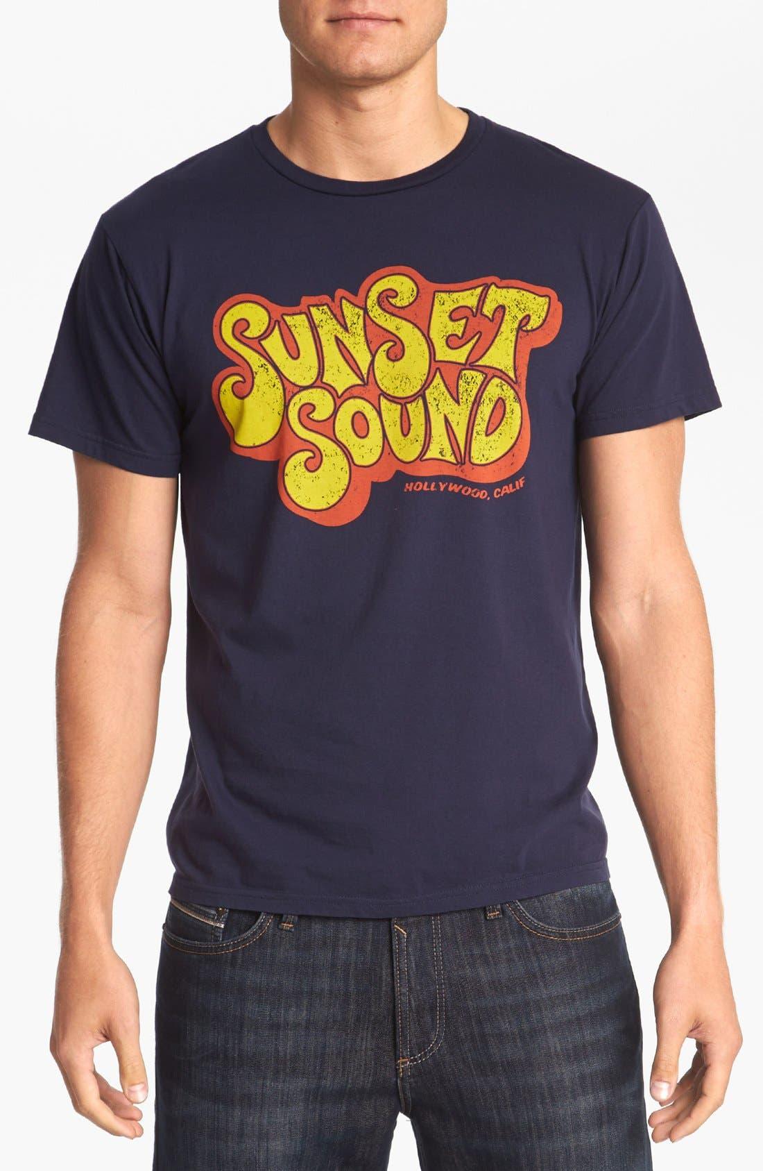 HORSES CUT SHOP, 'Sunset Sound' T-Shirt, Main thumbnail 1, color, 410