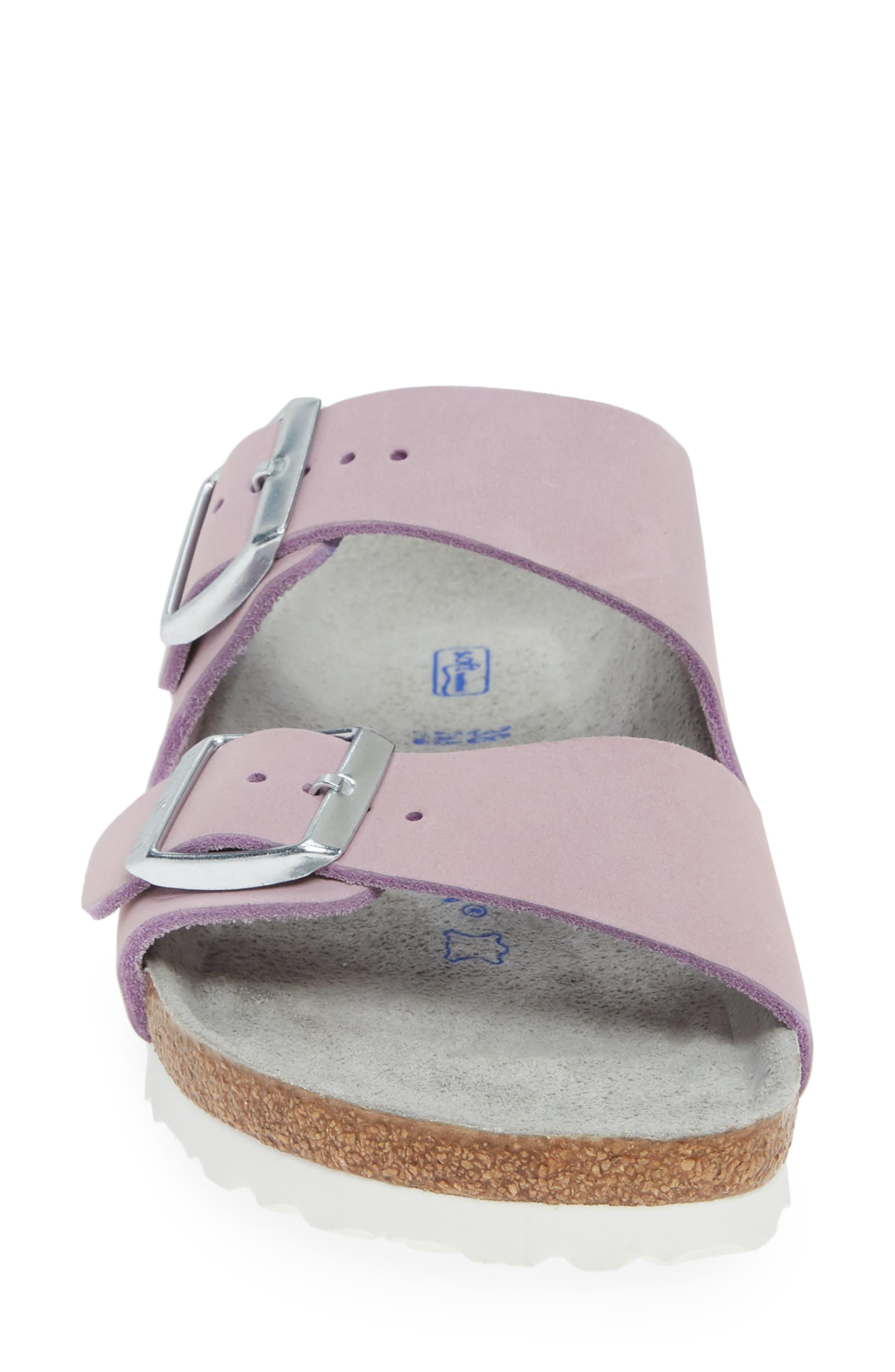 BIRKENSTOCK, Arizona Soft Footbed Sandal, Alternate thumbnail 4, color, LILAC NUBUCK