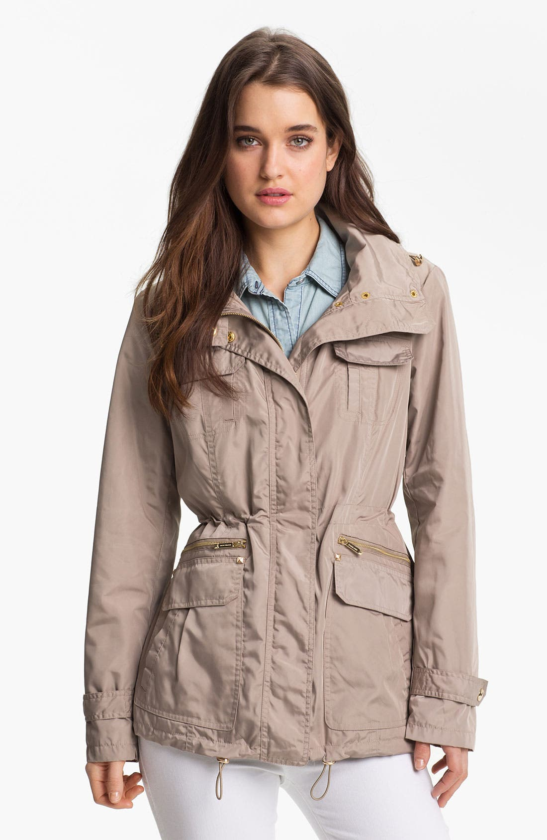 MICHAEL MICHAEL KORS Fly Front Anorak, Main, color, 250