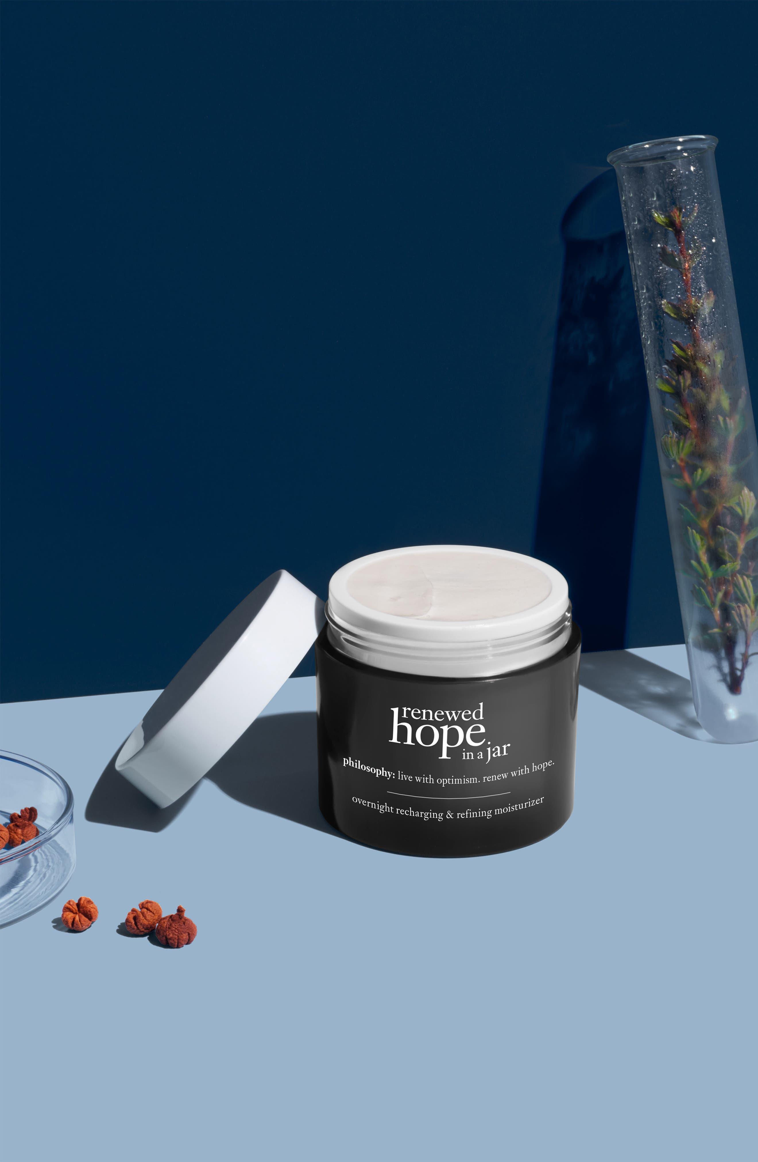 PHILOSOPHY, renewed hope in a jar overnight recharging & refining moisturizer, Alternate thumbnail 3, color, NO COLOR