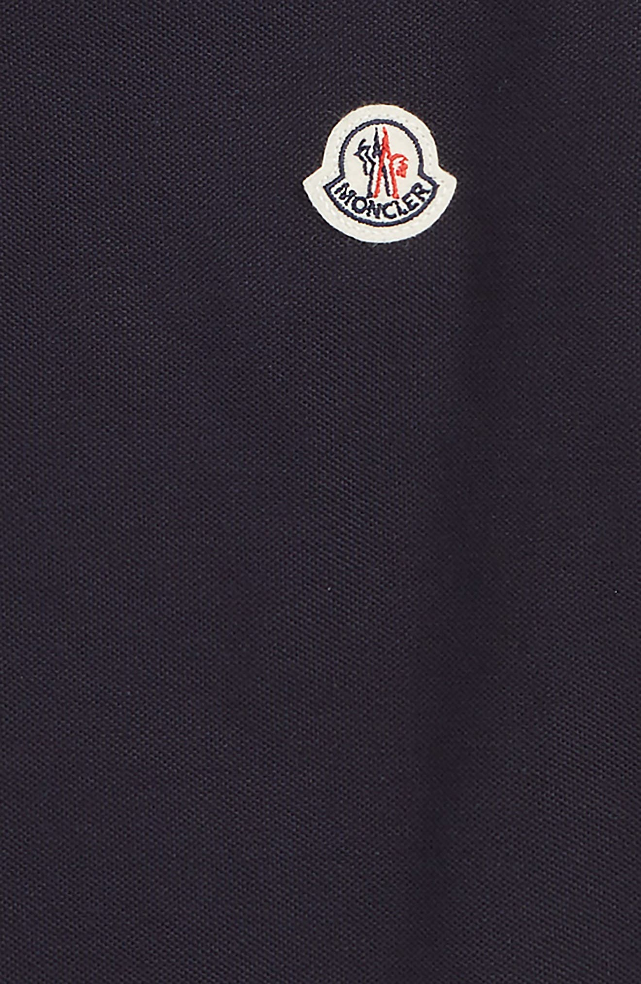 MONCLER, Logo Polo, Alternate thumbnail 2, color, MEDIUM BLUE