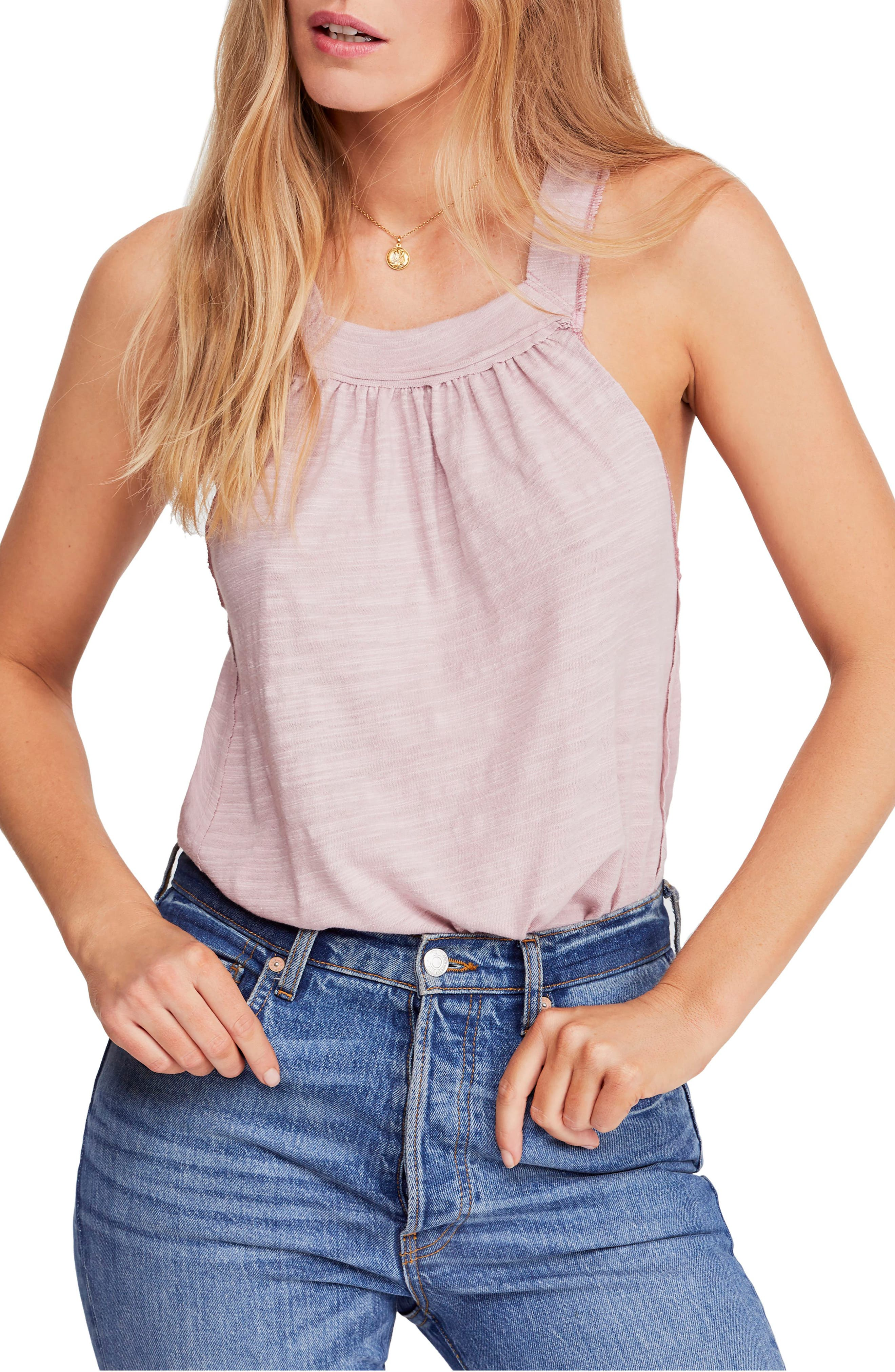 FREE PEOPLE, Good for You Tank, Main thumbnail 1, color, PINK