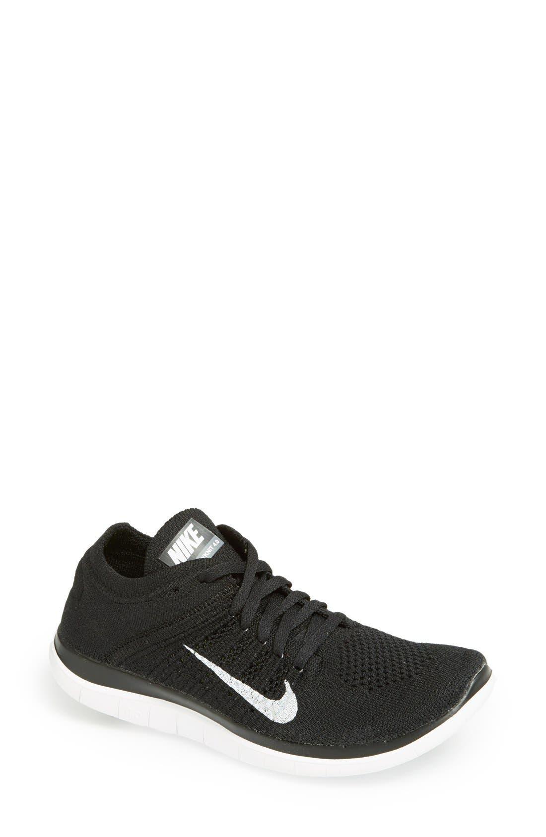 NIKE 'Free 4.0 Flyknit' Running Shoe, Main, color, 001