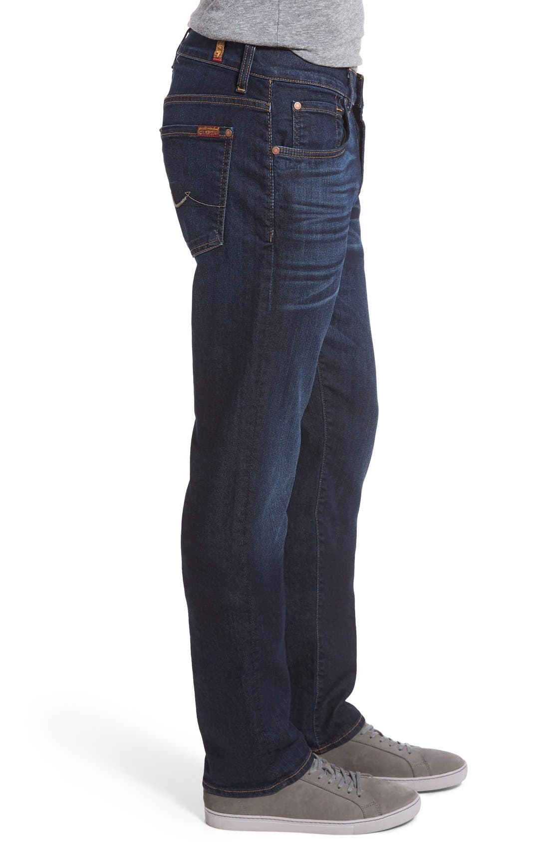 7 FOR ALL MANKIND<SUP>®</SUP>, The Straight Airweft Slim Straight Leg Jeans, Alternate thumbnail 6, color, 400