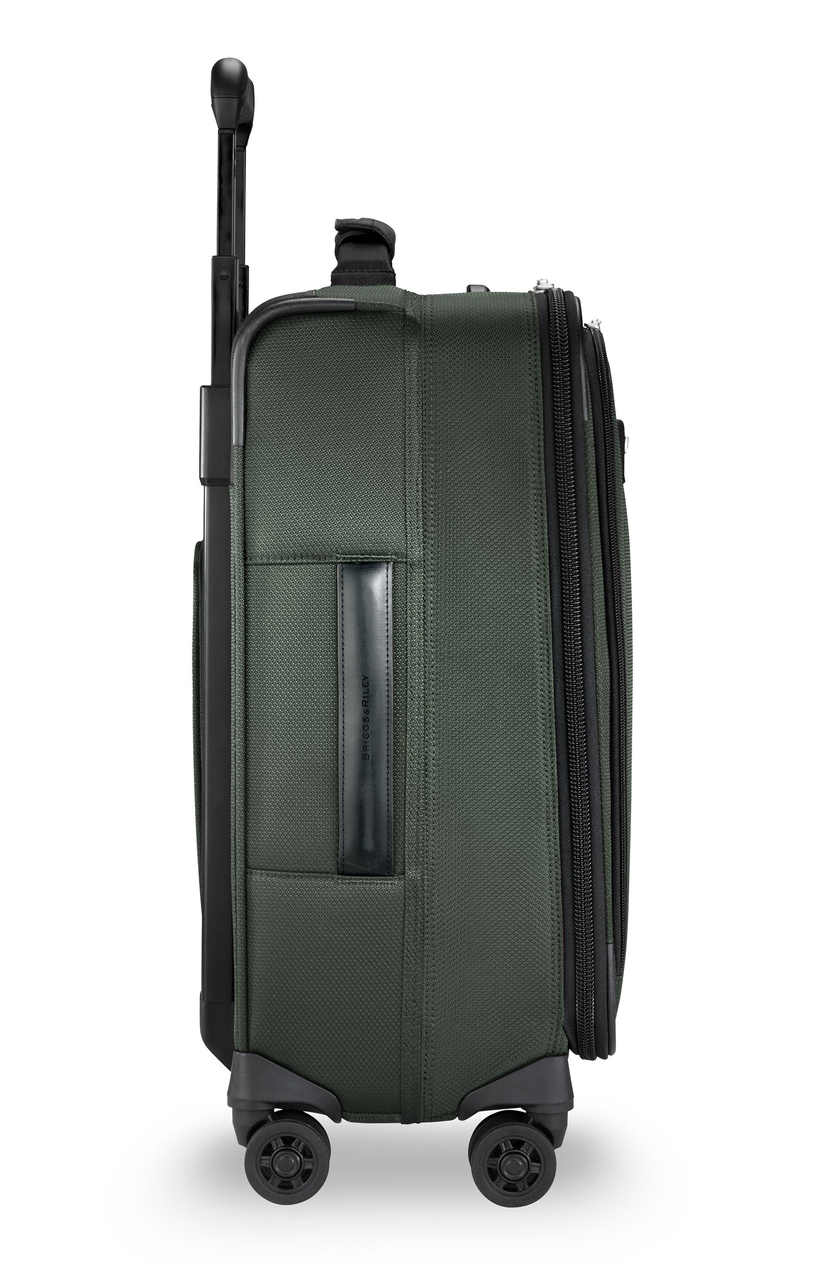 BRIGGS & RILEY, Transcend VX Wide Expandable 21-Inch Spinner Suitcase, Alternate thumbnail 3, color, RAINFOREST GREEN