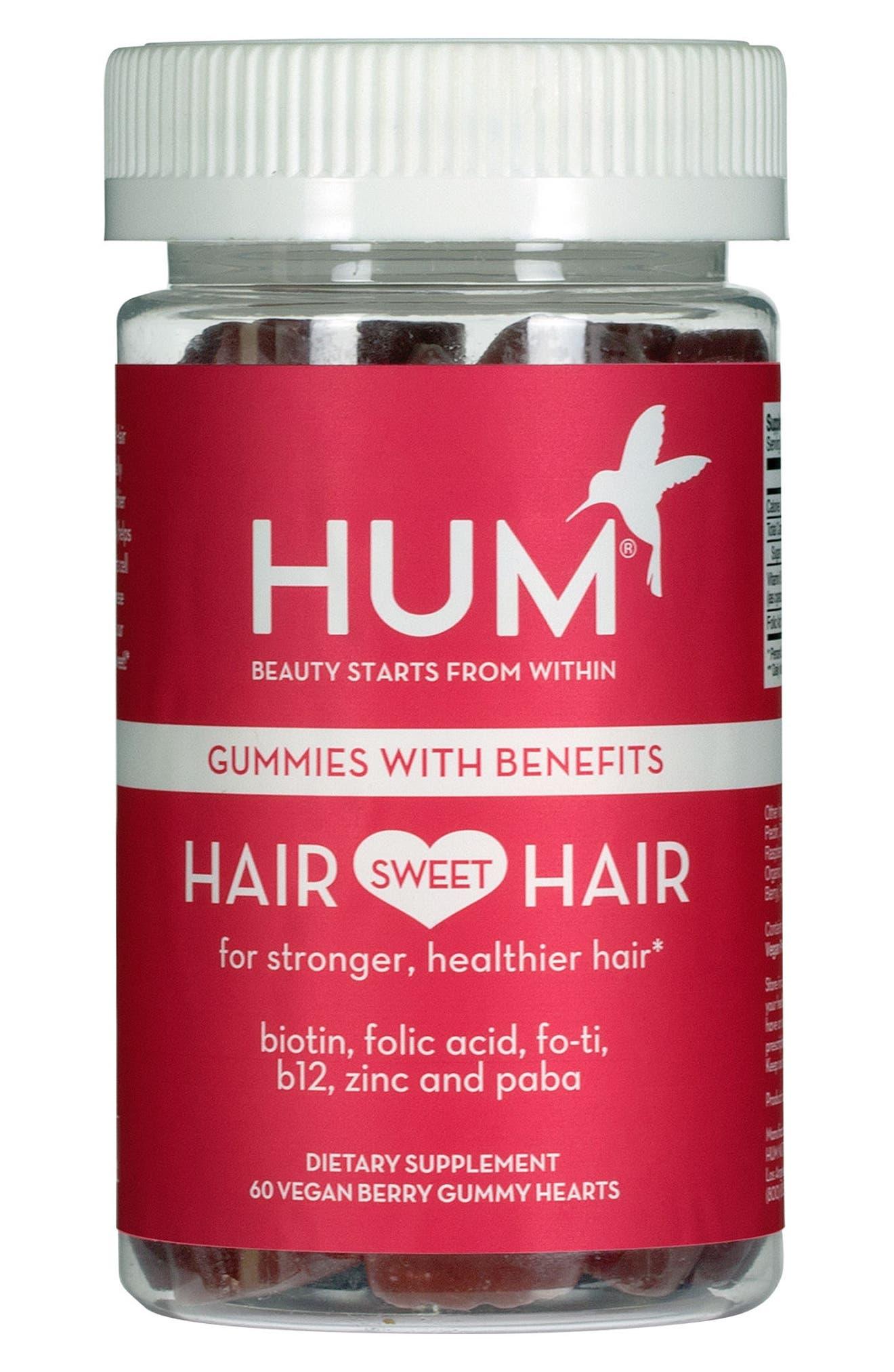 HUM NUTRITION Hair Sweet Hair Gummies Supplement for Healthy Hair, Main, color, NO COLOR