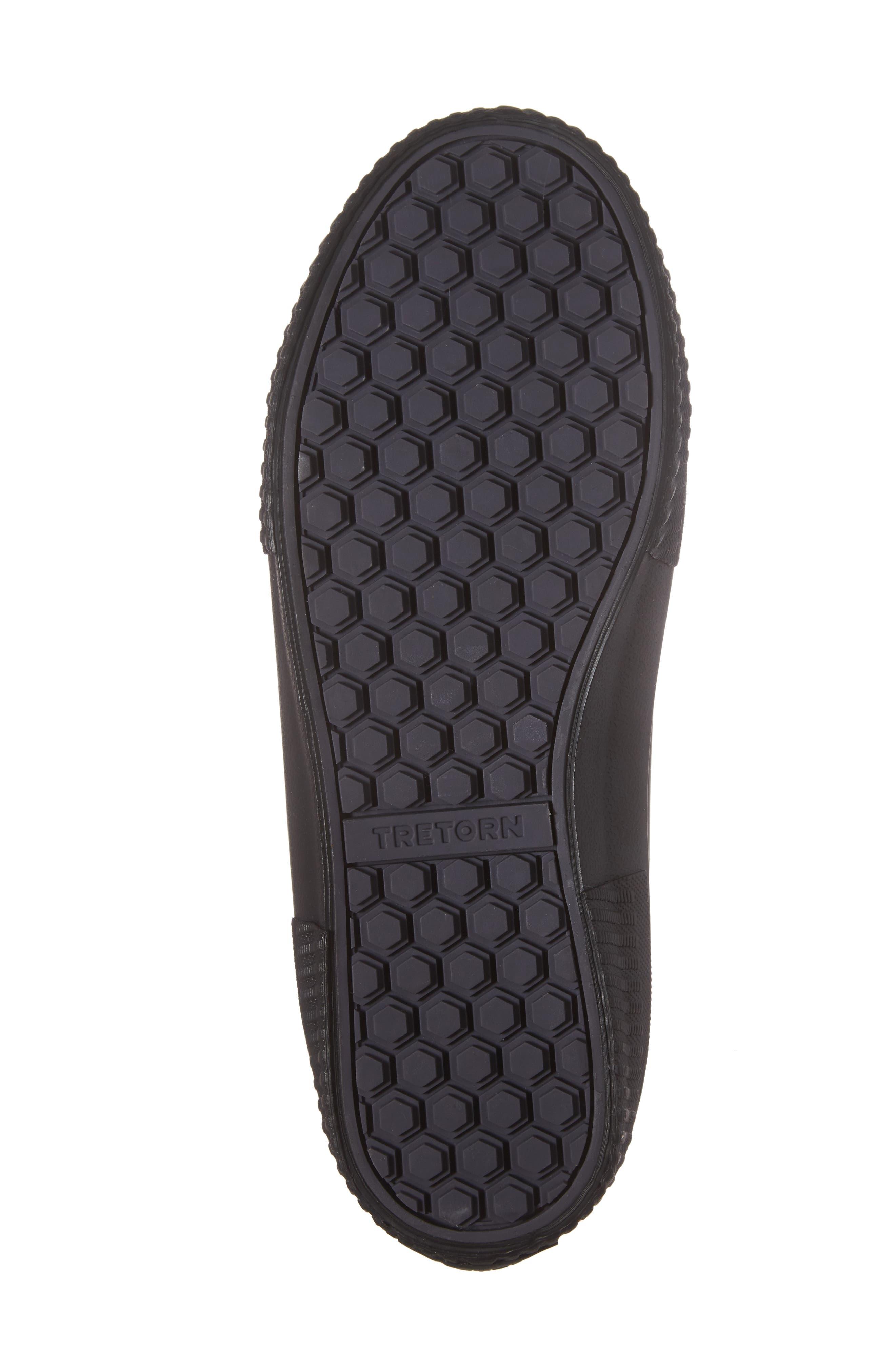 TRETORN, Guswnt Chelsea Waterproof Boot, Alternate thumbnail 6, color, BLACK/ BLACK