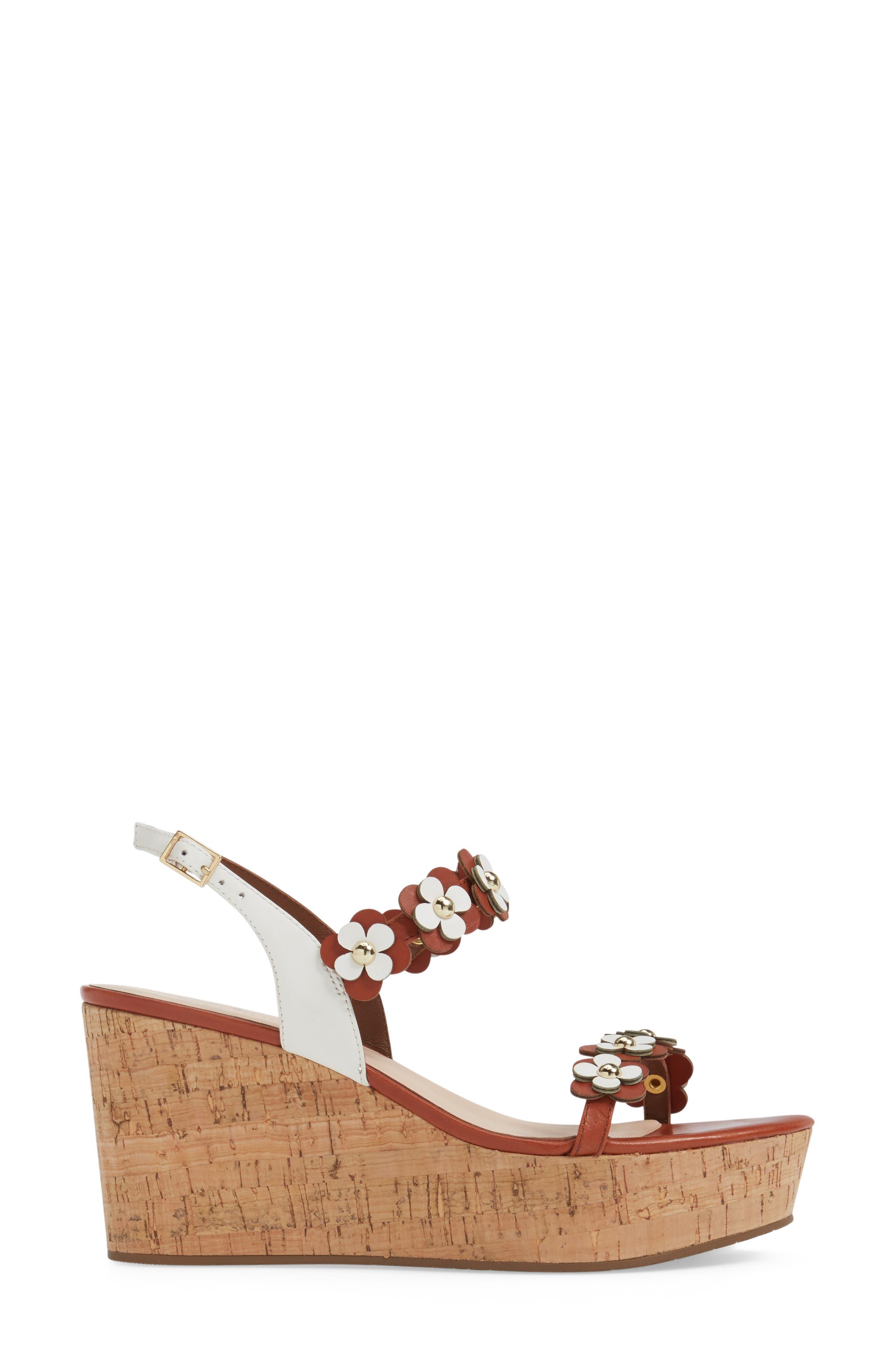 KATE SPADE NEW YORK, tisdale platform wedge sandal, Alternate thumbnail 3, color, 200