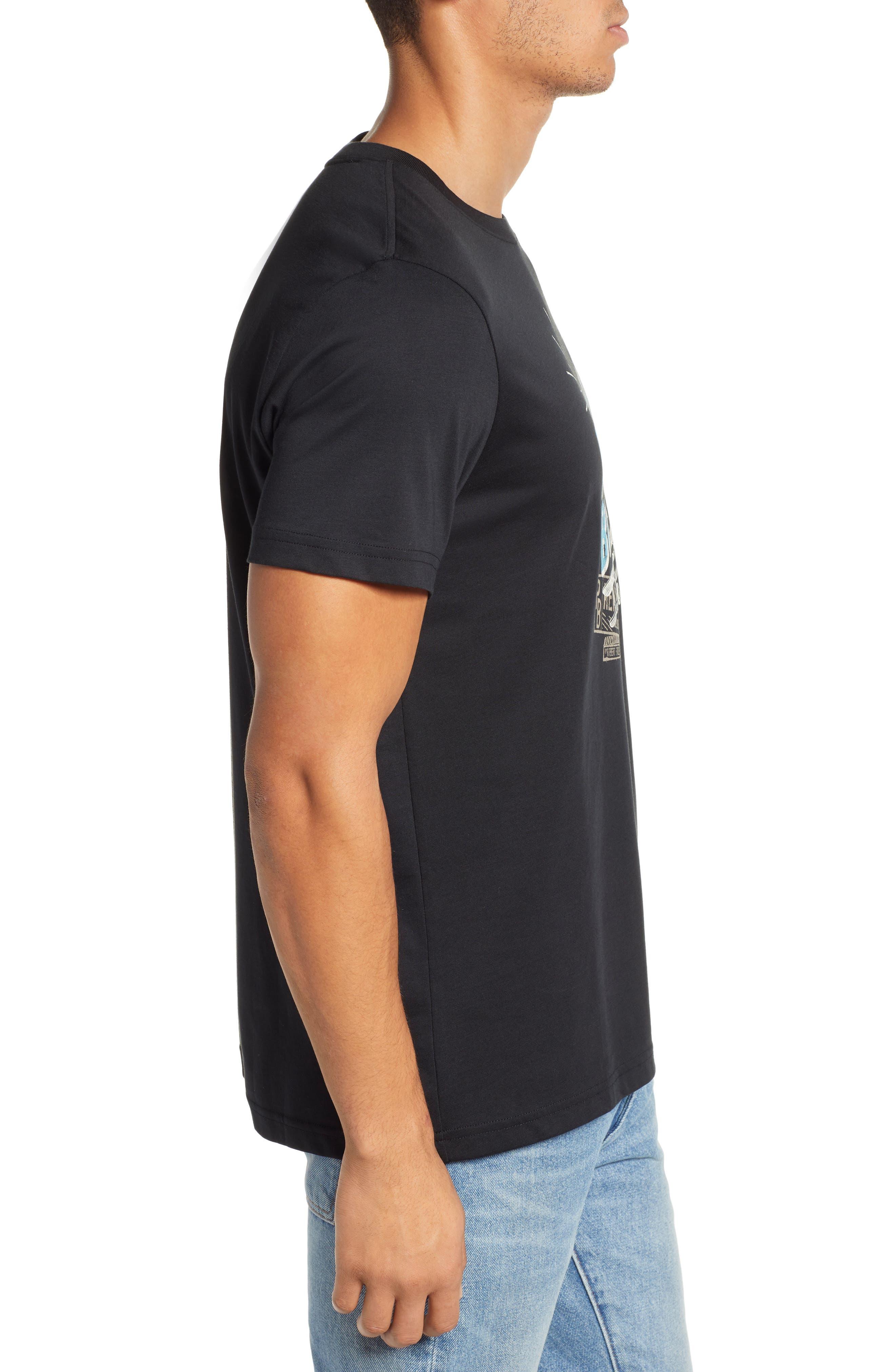 PSYCHO BUNNY, Otley Graphic T-Shirt, Alternate thumbnail 3, color, 001