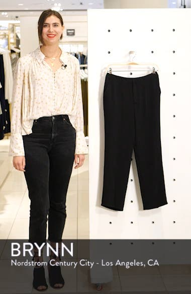 Slit Hem Crop Skinny Pants, sales video thumbnail