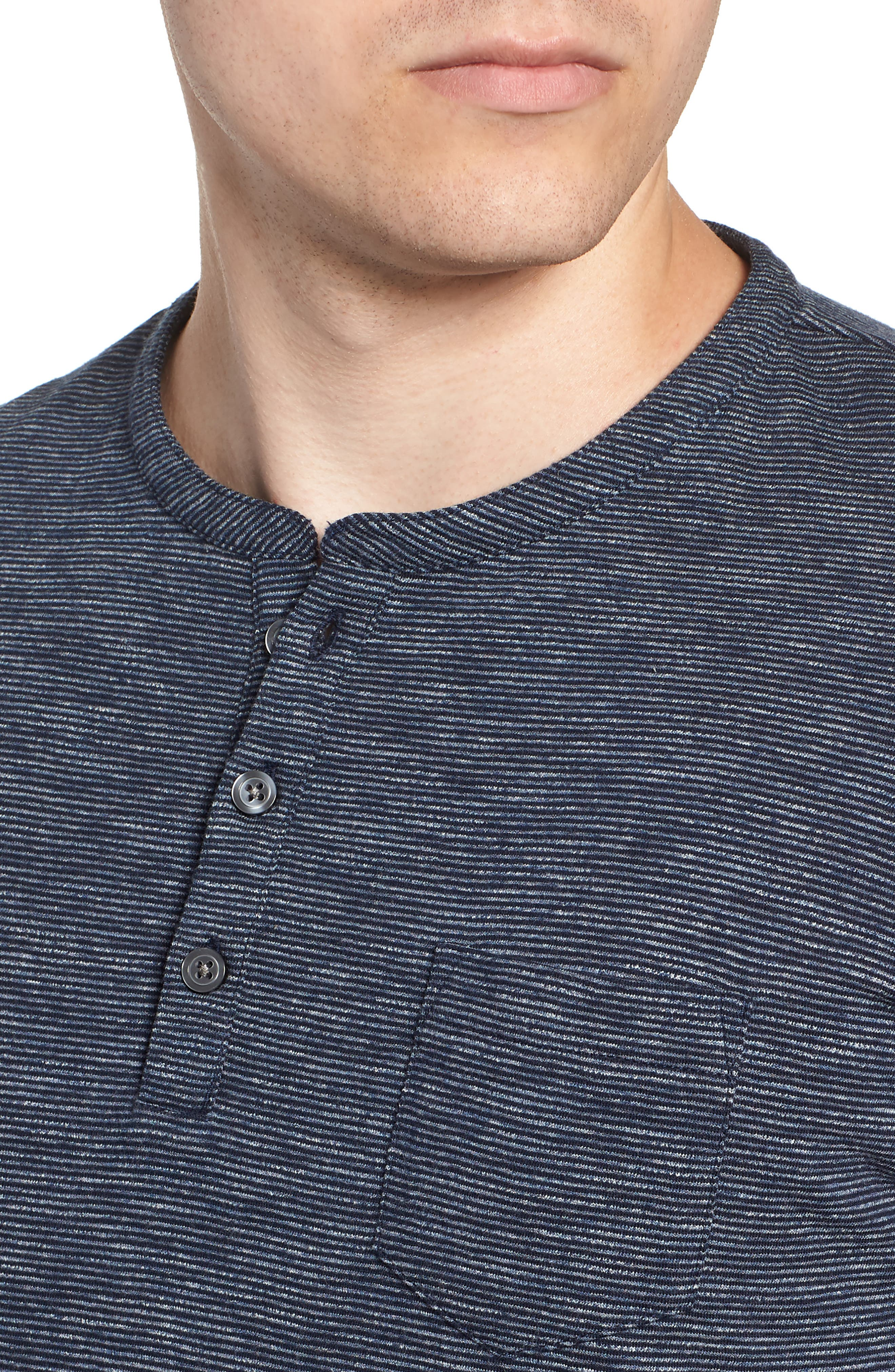 RODD & GUNN, Tasman Downs Regular Fit Henley, Alternate thumbnail 4, color, NAVY