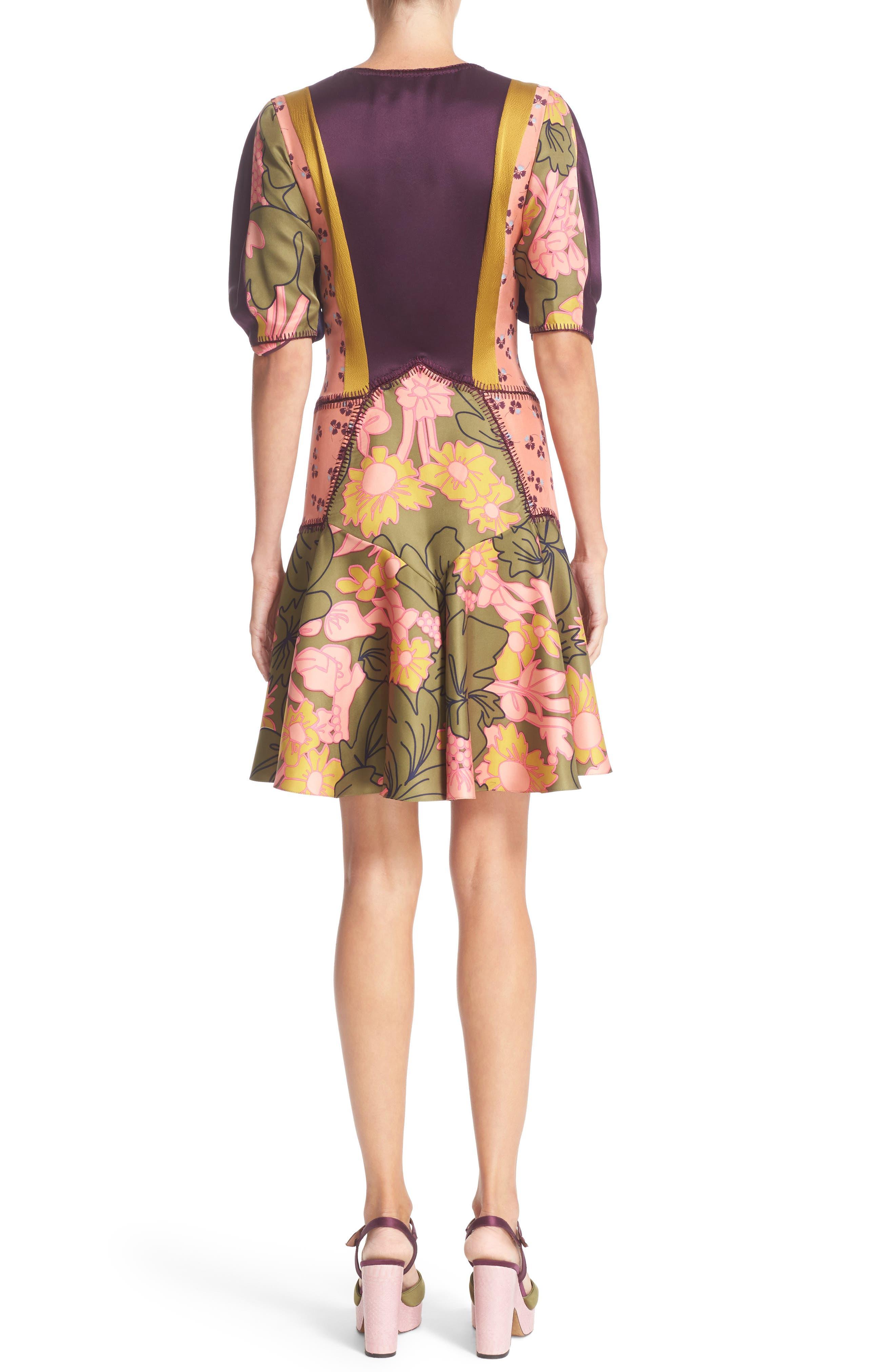 ROKSANDA, Hirani Dress, Alternate thumbnail 2, color, 695