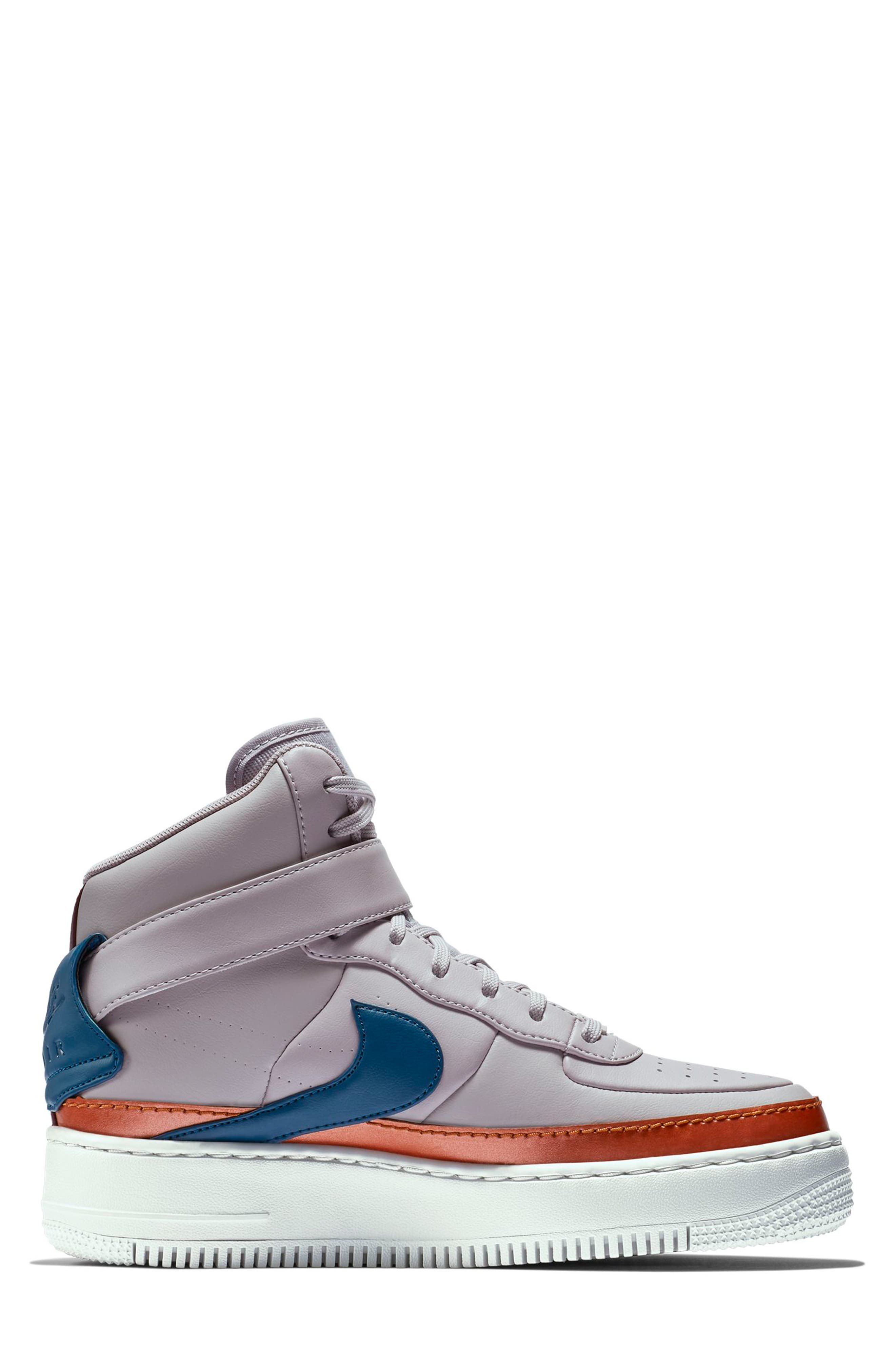 NIKE, Air Force 1 Jester High XX Sneaker, Alternate thumbnail 6, color, 500