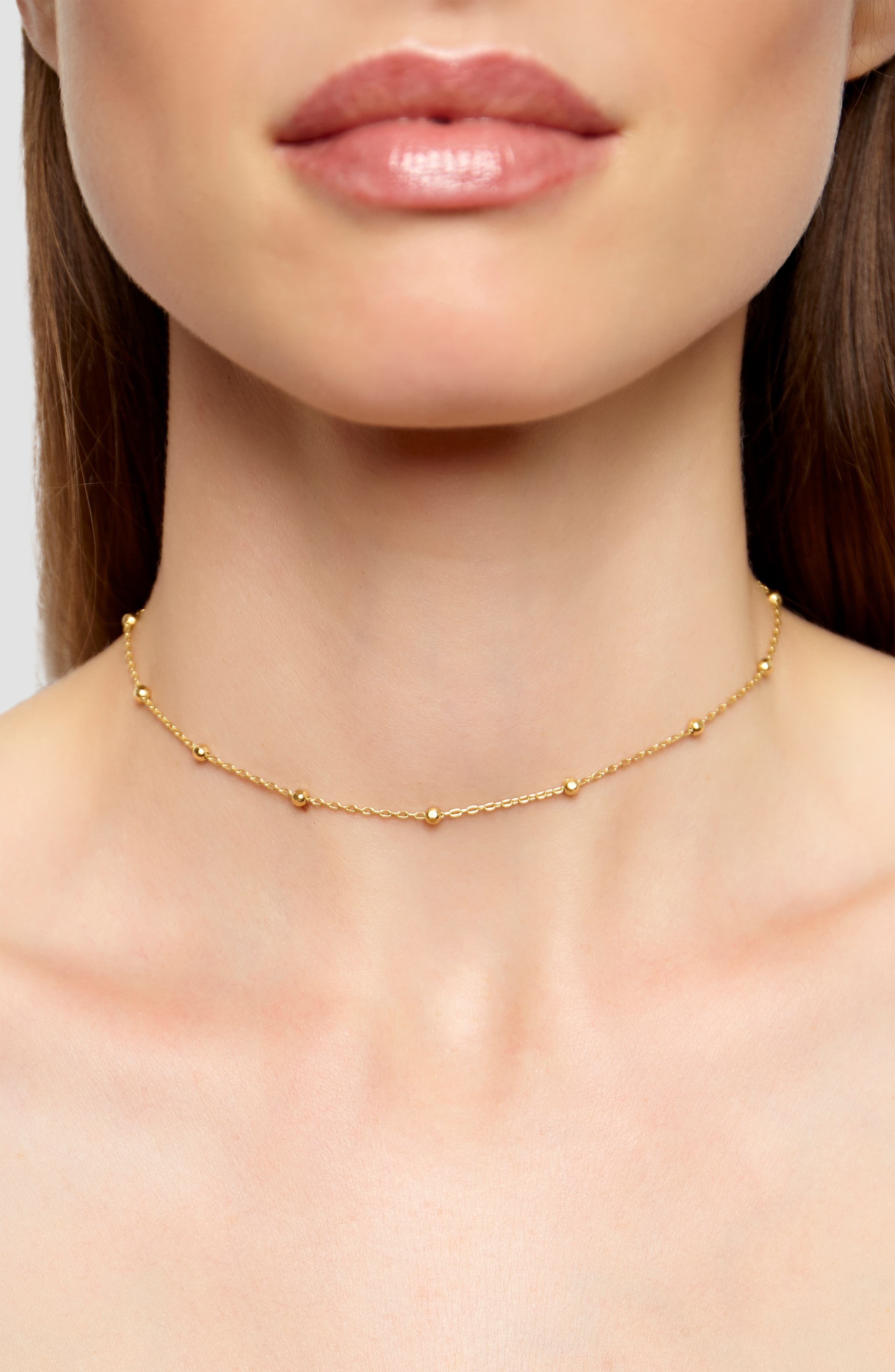 ARGENTO VIVO, Choker Necklace, Main thumbnail 1, color, GOLD
